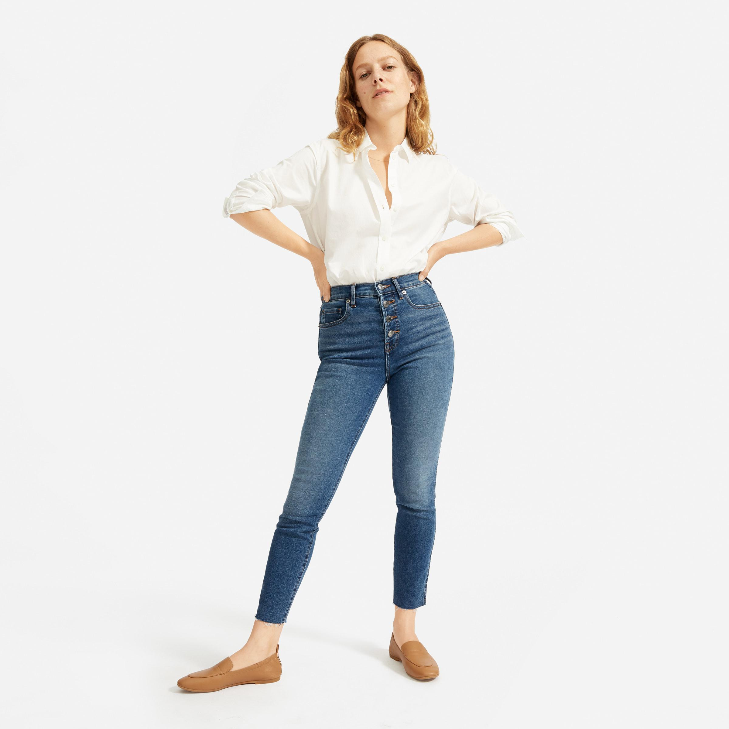 The Authentic Stretch High-Rise Skinny Button Fly