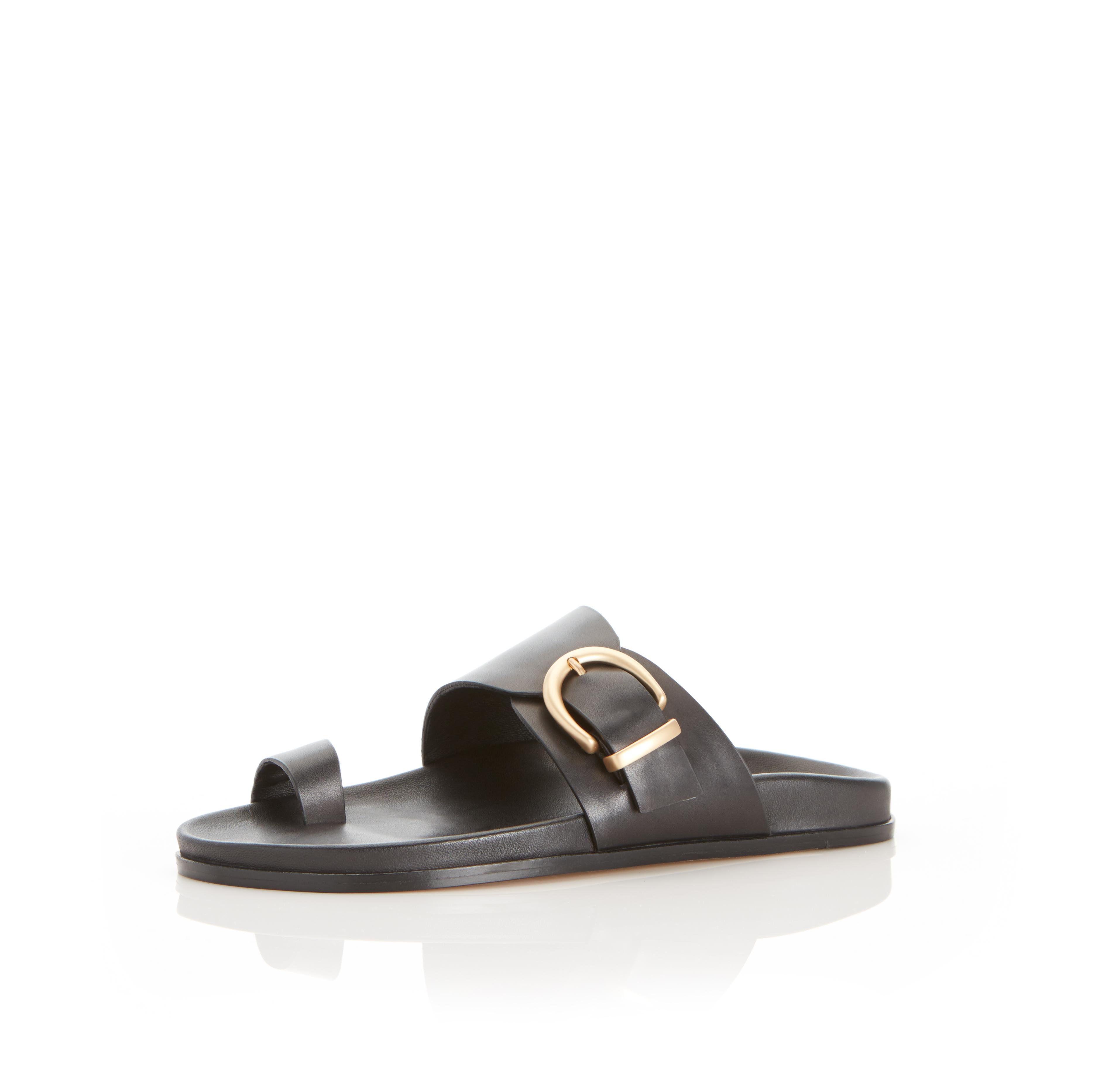 Cyrus   Leather Slide Sandal with Contoured Footbed 1