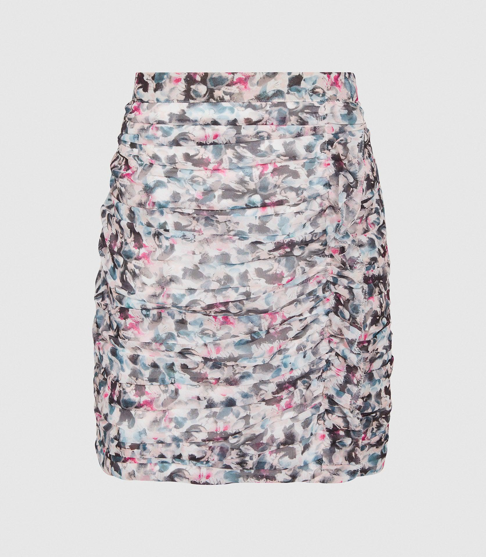 LUCIELLE - FLORAL PRINT RUCHED MINI SKIRT 5