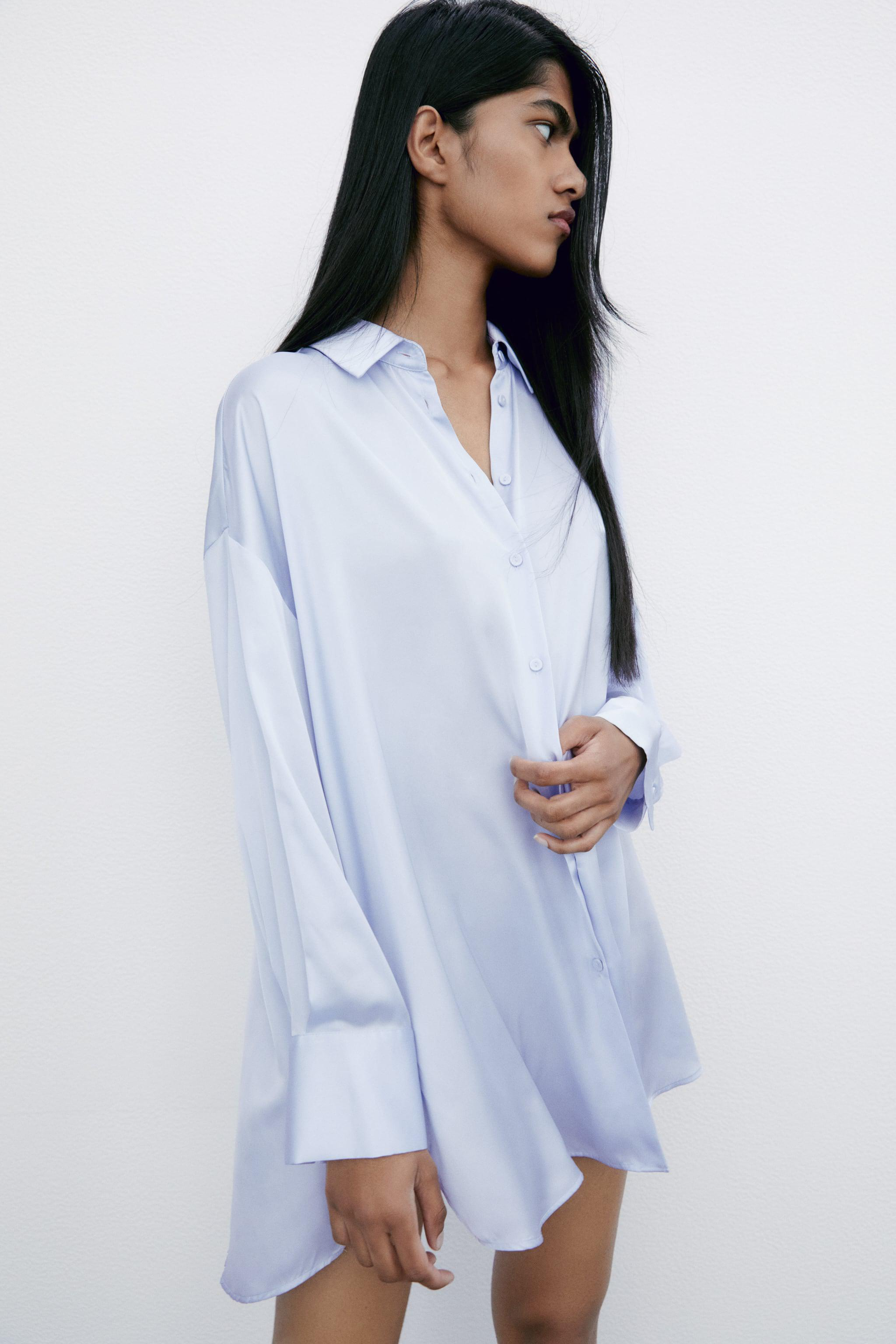 FLOWY LINED BUTTON SHIRT 3