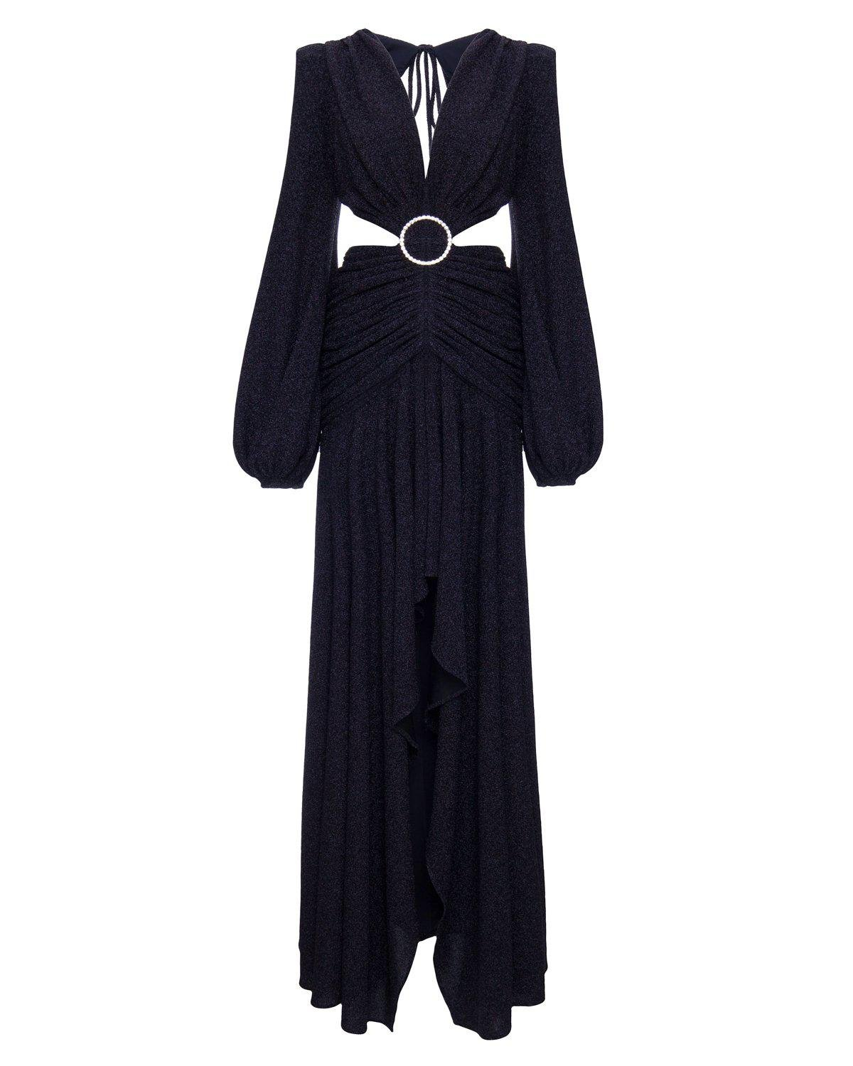 LUREX CUT-OUT GOWN