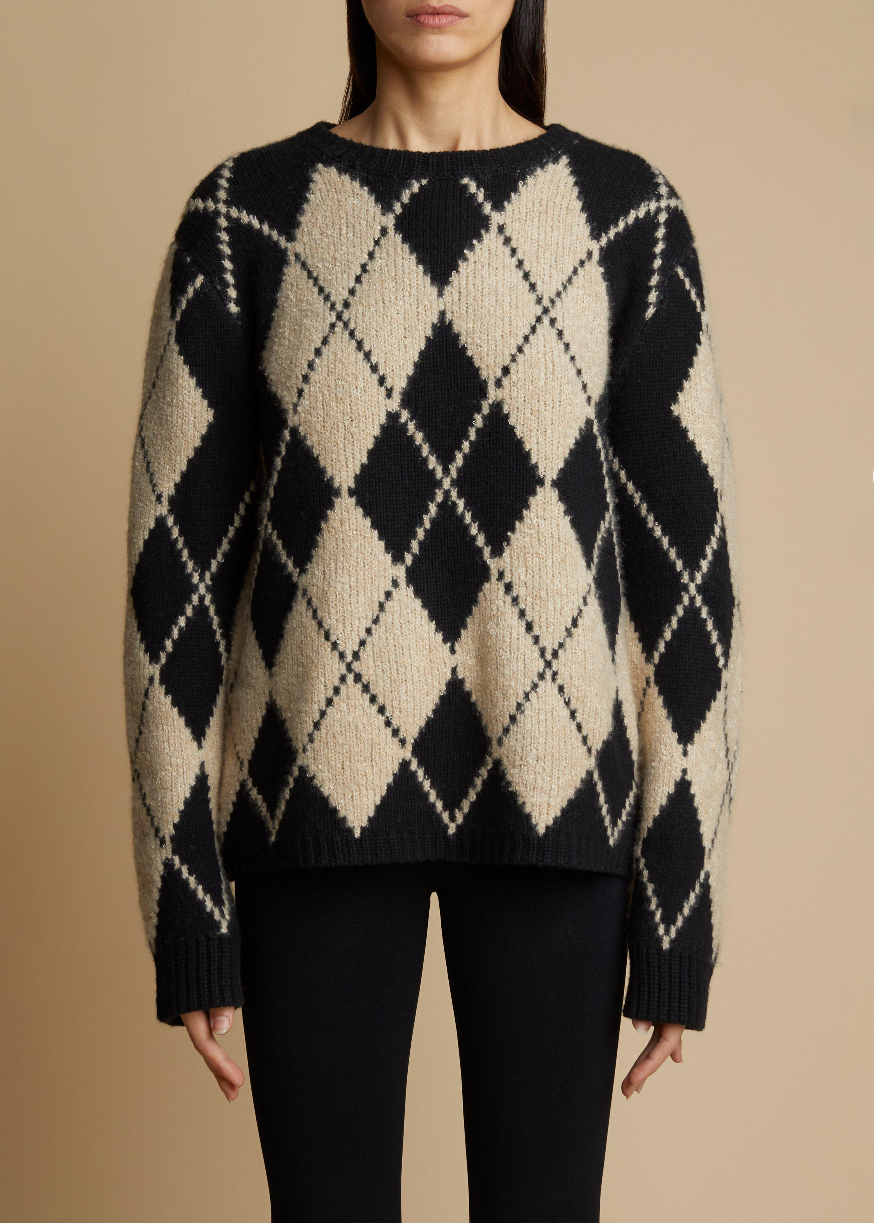 The Siro Sweater in Black and Teddy