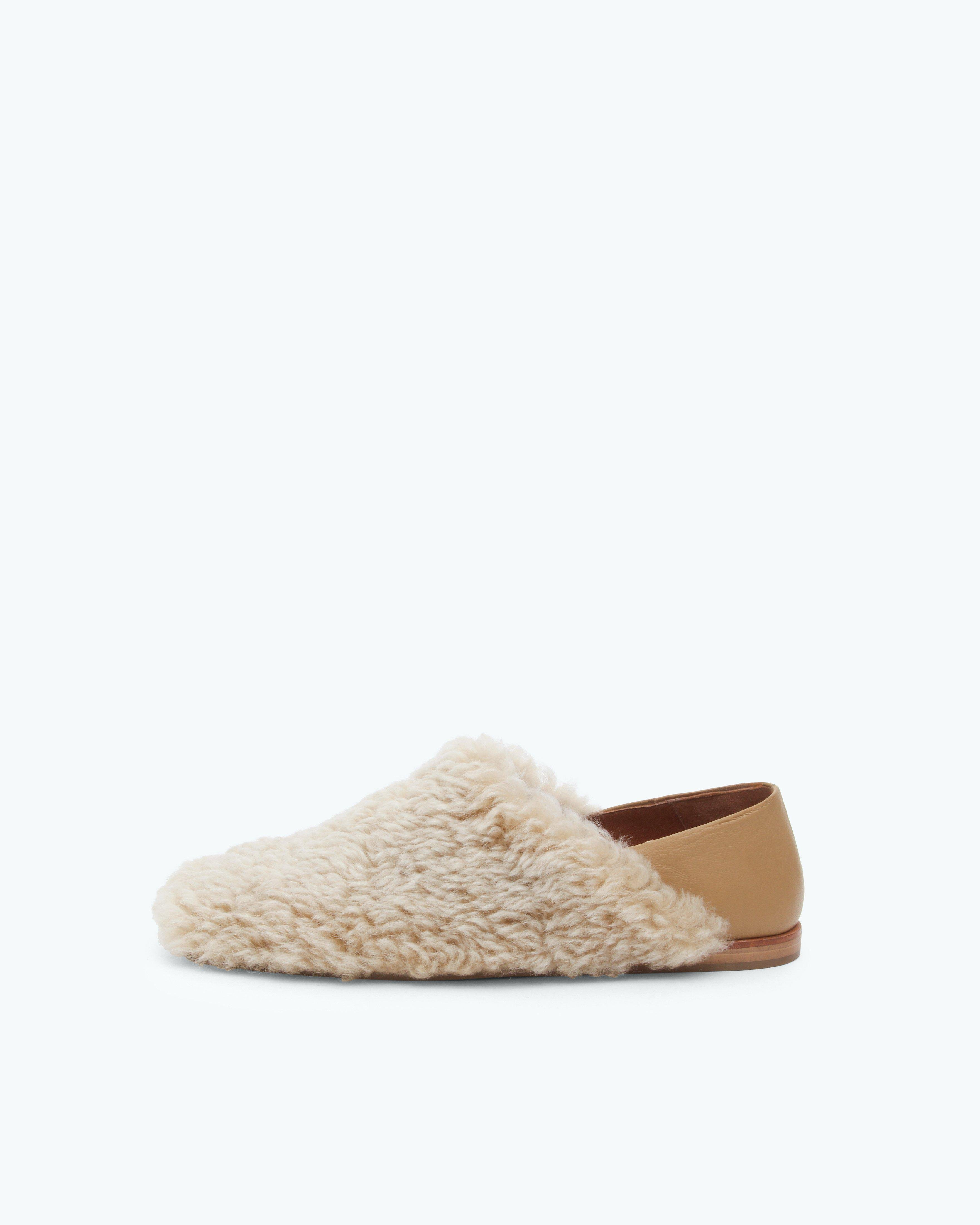 Ethel Slippers Shearling Ivory