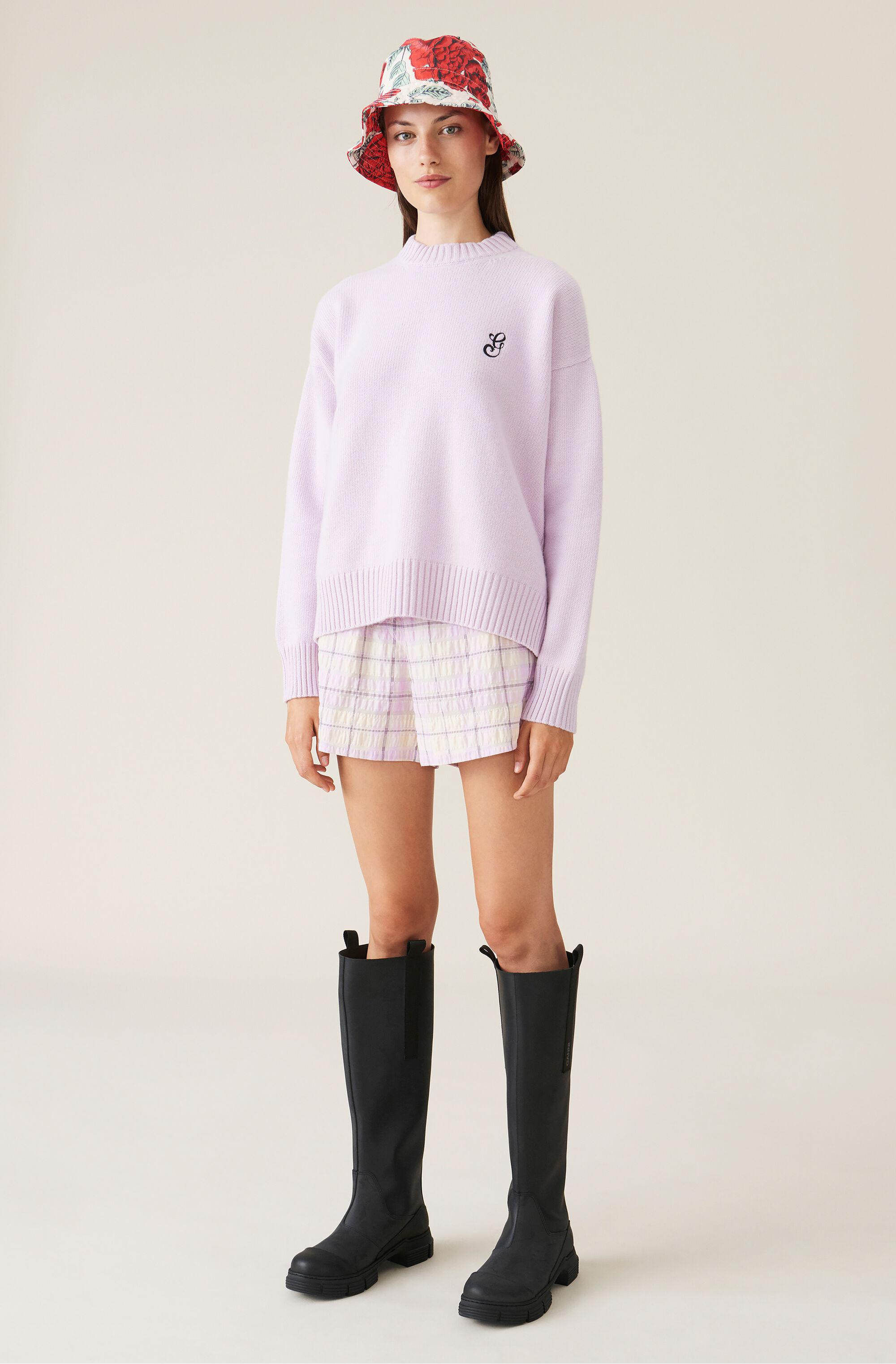 Cashmere Mix Knit Pullover 1
