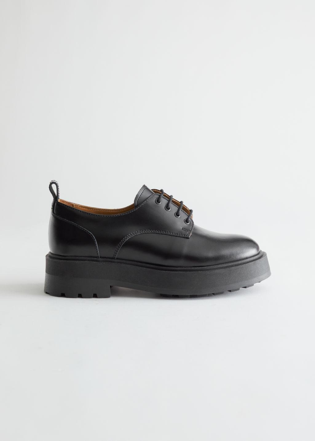 Chunky Leather Oxfords 0