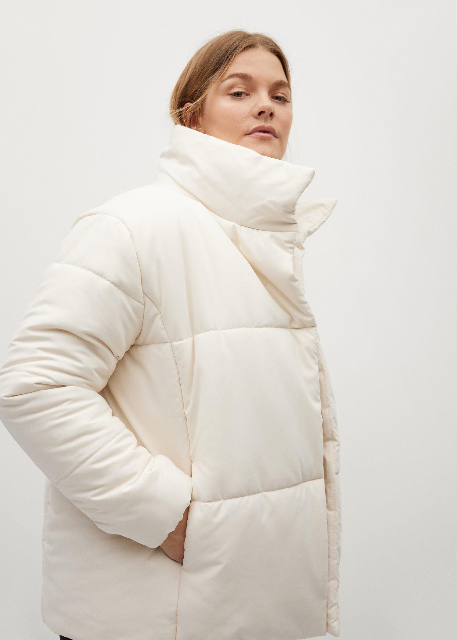 Long collar quilted coat 3