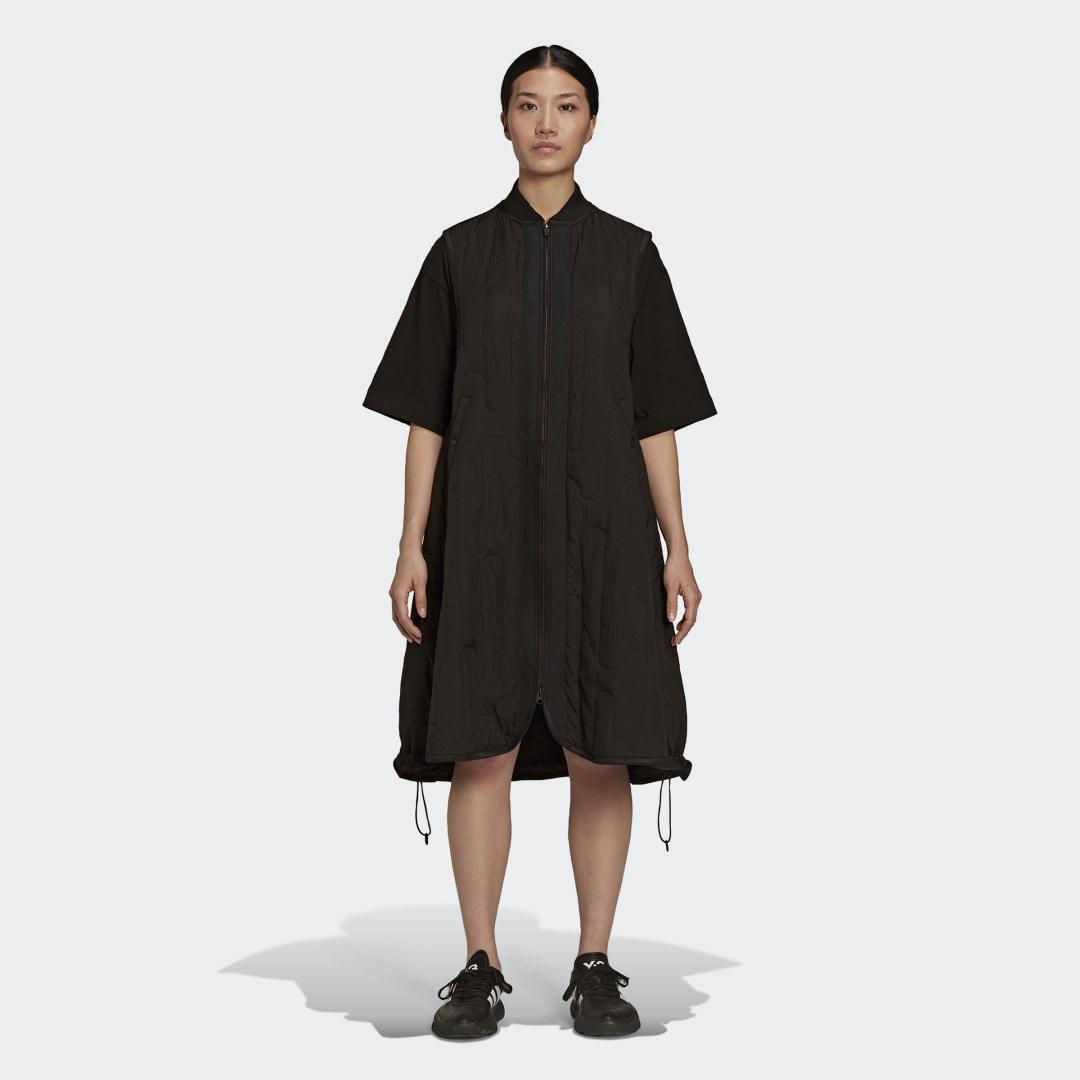 Y-3 Cloud Quilted Gilet Dress Black S - Womens Training Skirts & Dresses