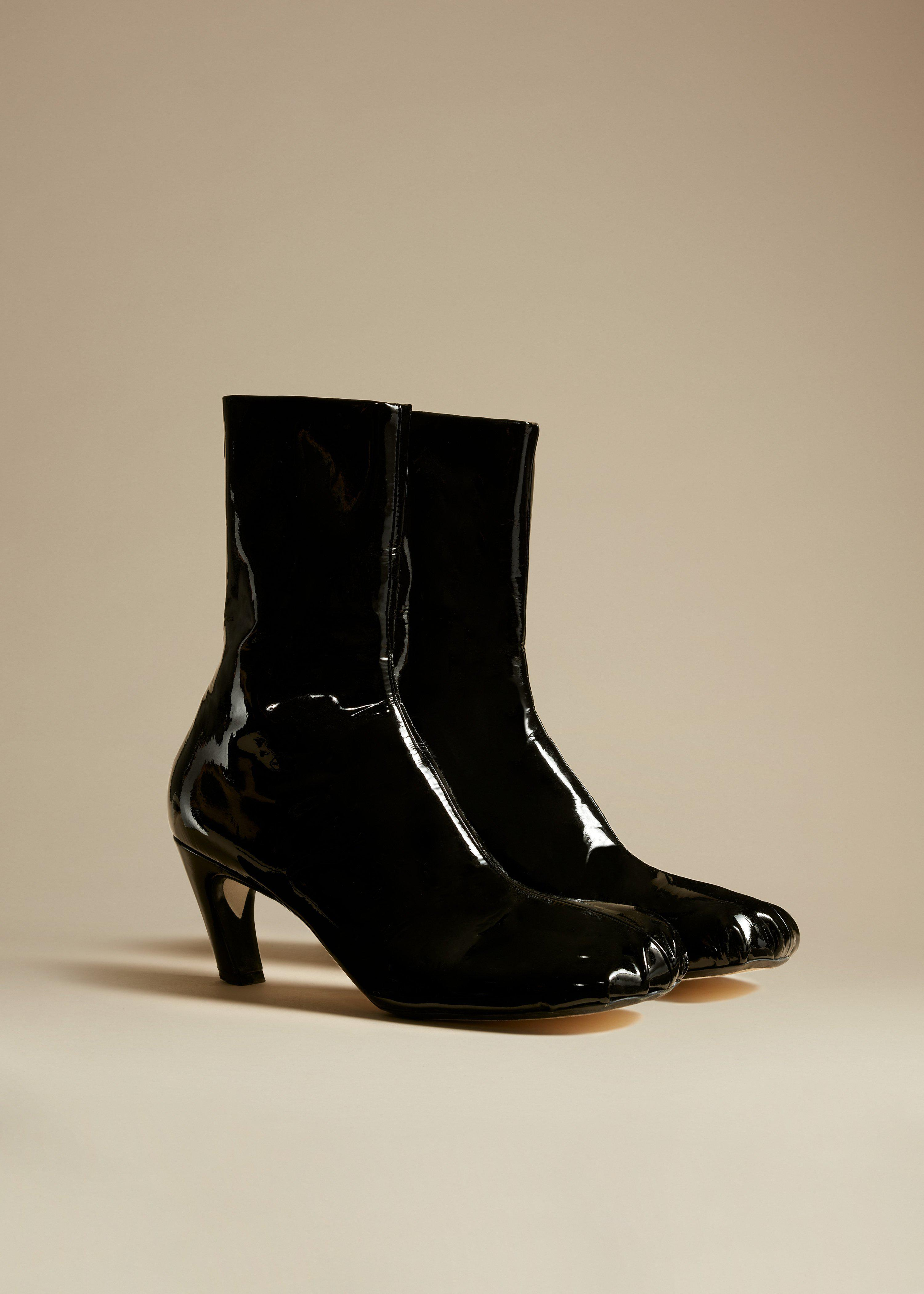 The Normandy Boot in Black Patent Leather 1