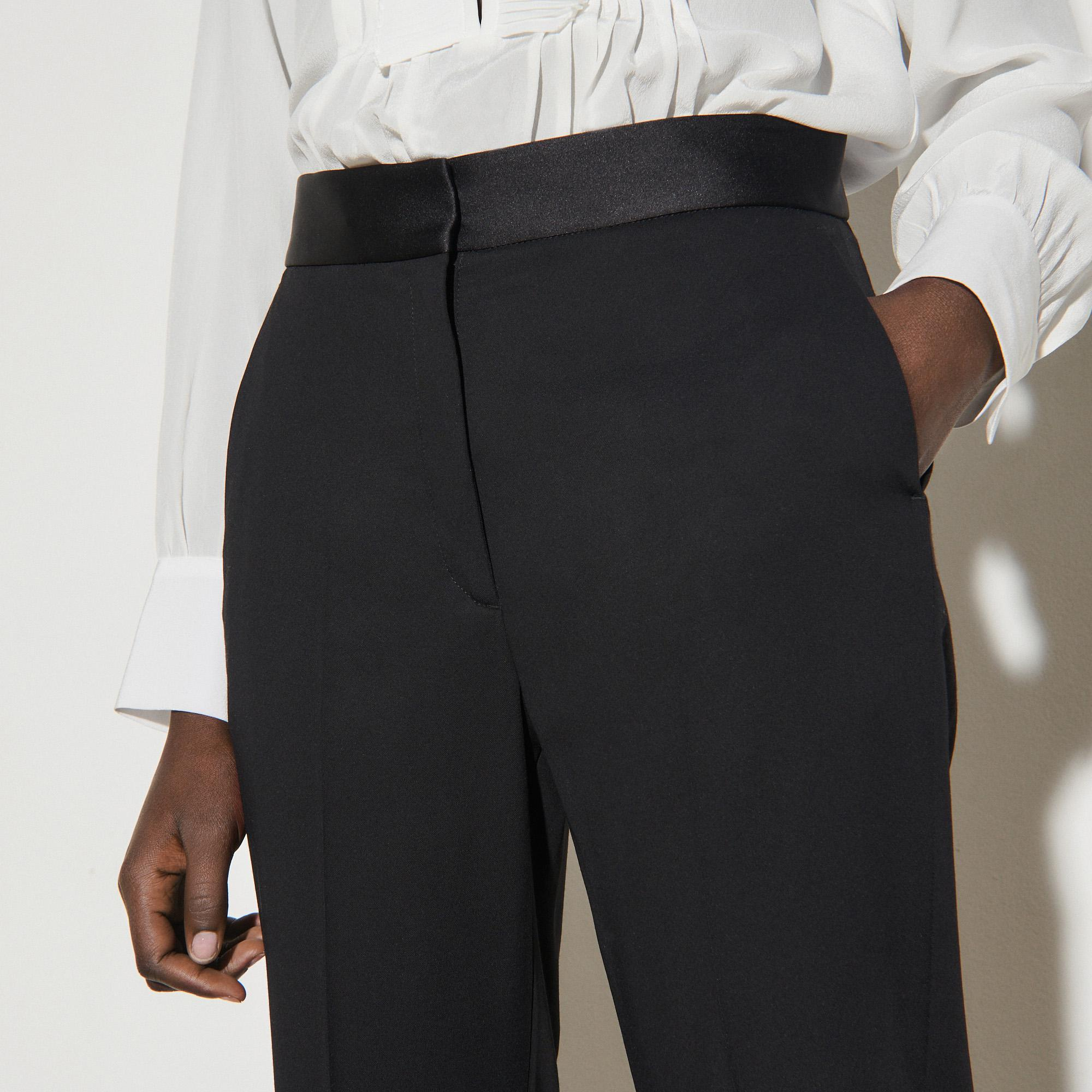 Pants with satin inset 4