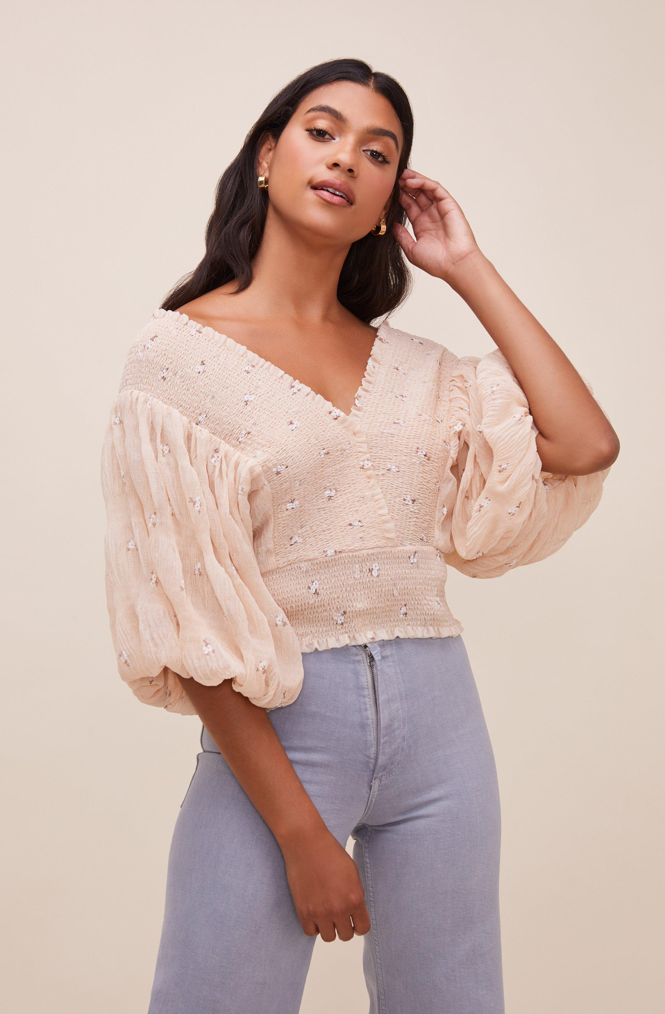 Ginny Floral Smocked Puff Sleeve Top