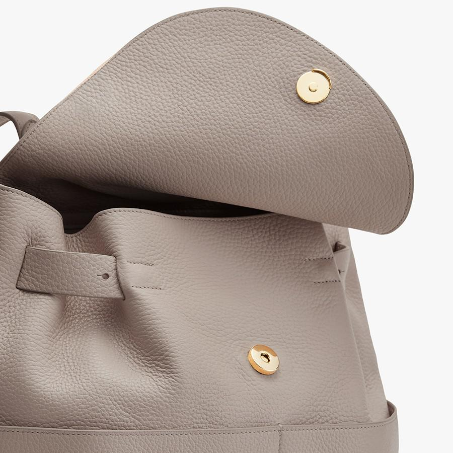 Women's Leather Backpack in Stone   Pebbled Leather by Cuyana 1