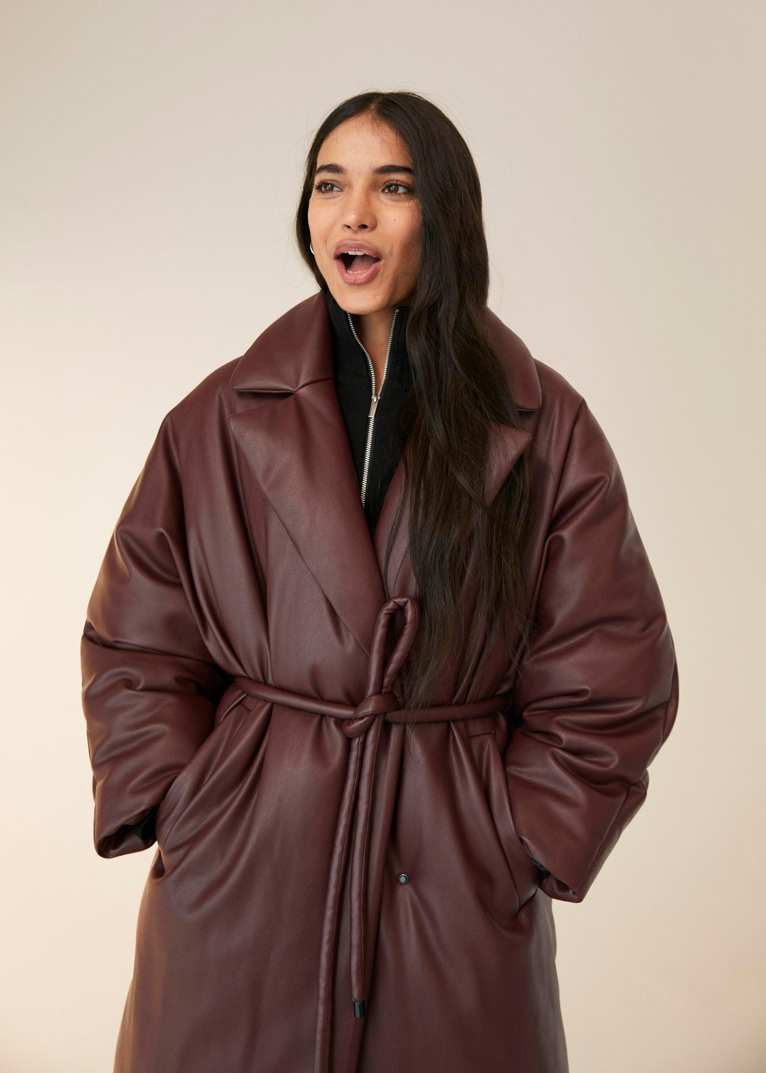 Oversize quilted coat 8