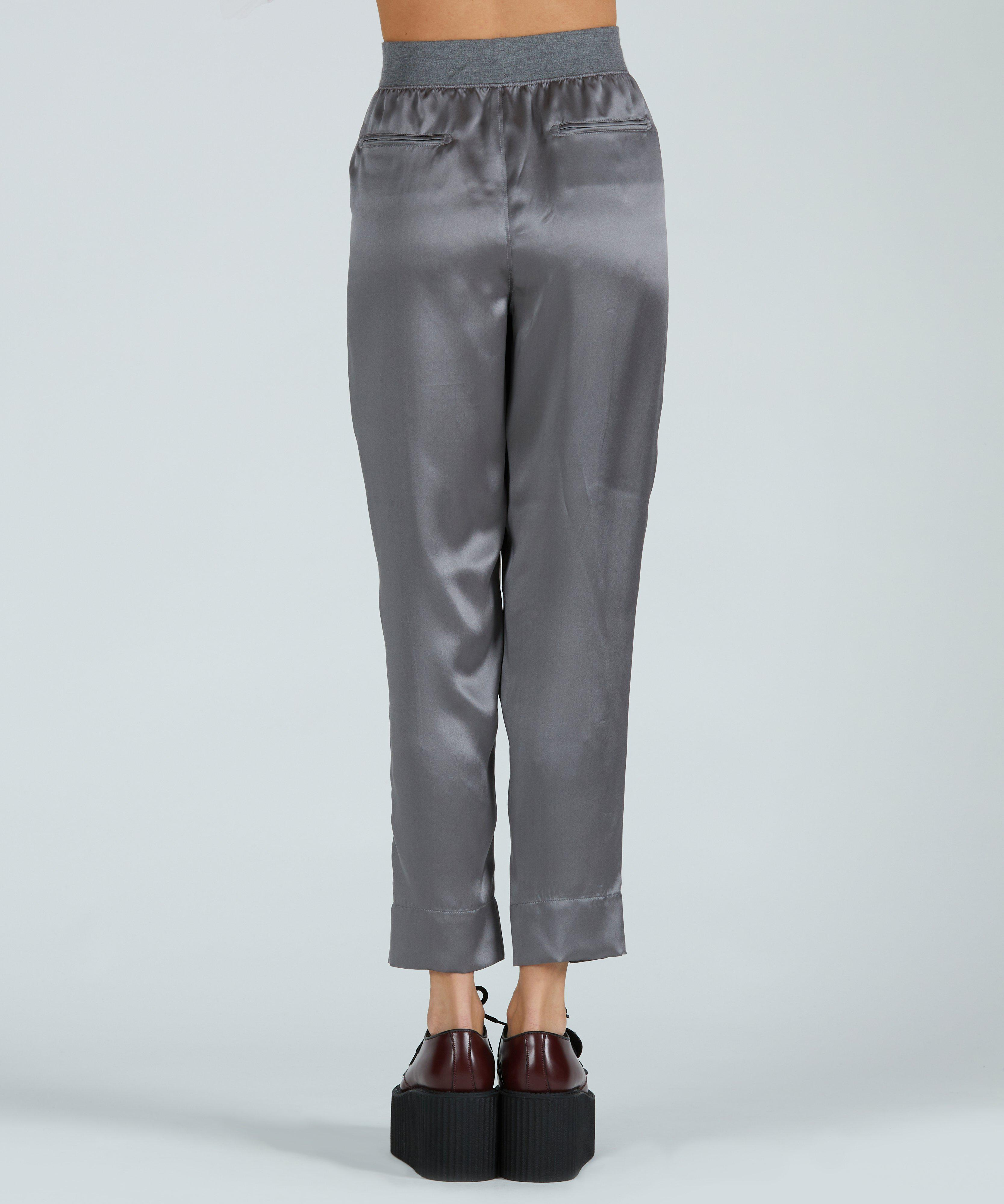 Silk Pull-On Pant - Pewter 2