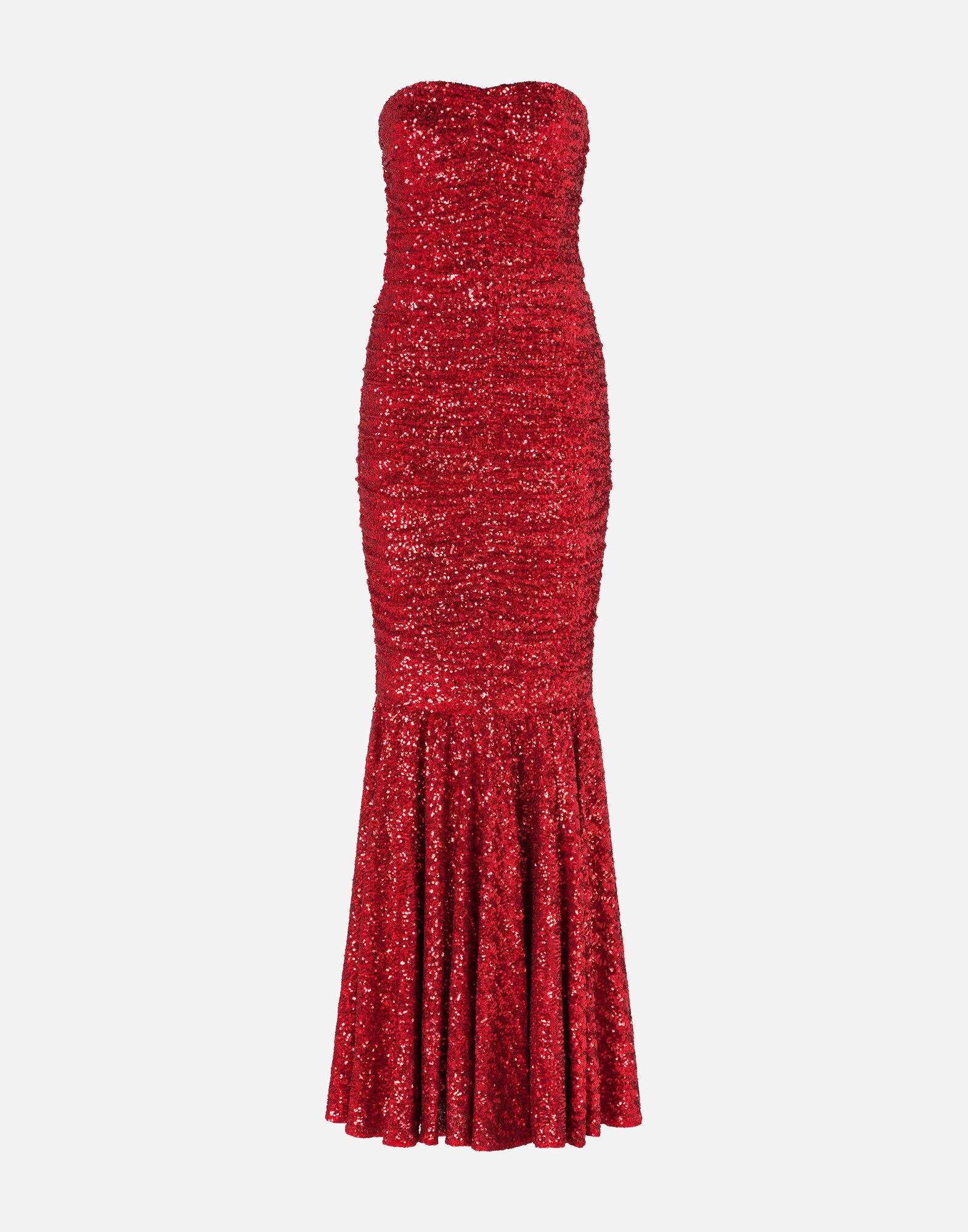 Long dress draped in sequins 6