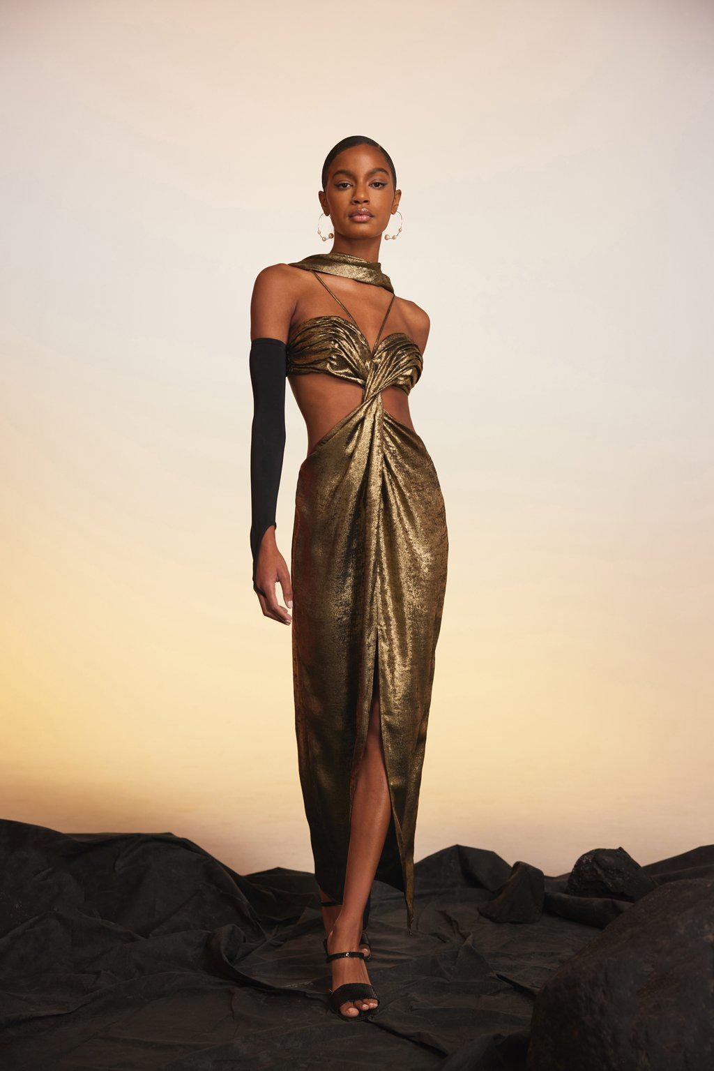 CODY GOWN - GOLD