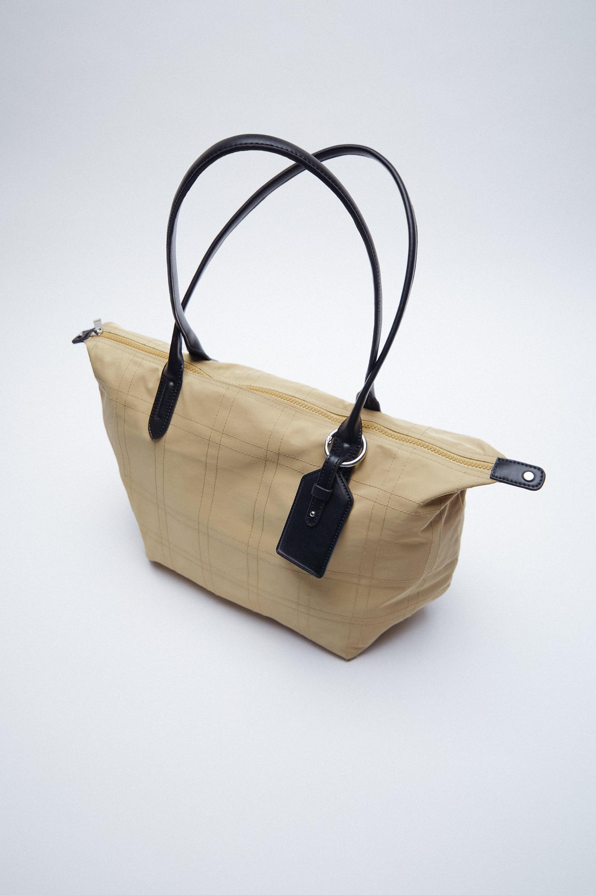 NYLON TOTE BAG WITH TOPSTITCHING 7