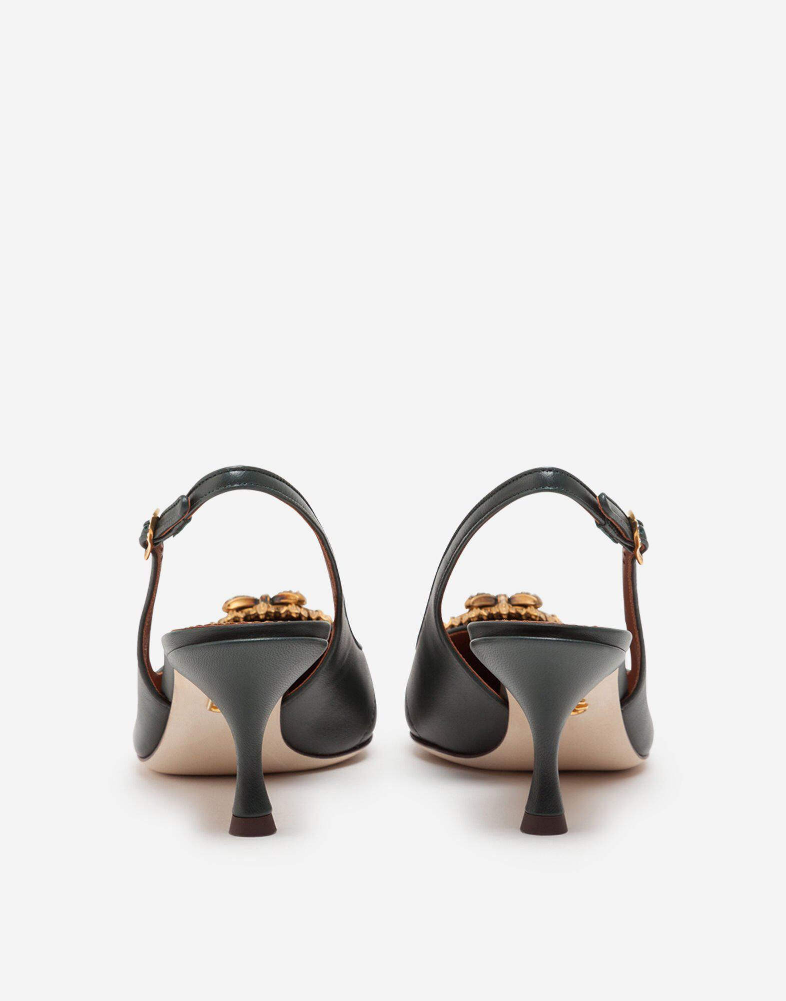 Quilted nappa leather Devotion slingbacks 2