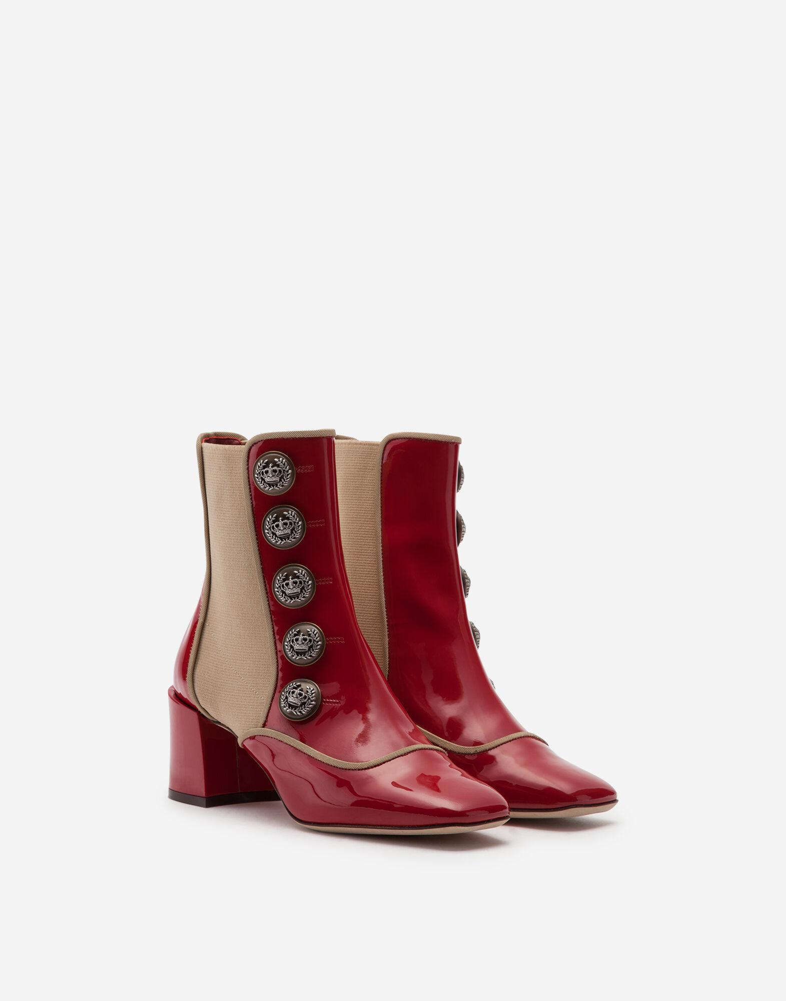 Ankle boots in polished calfskin with buttons 1