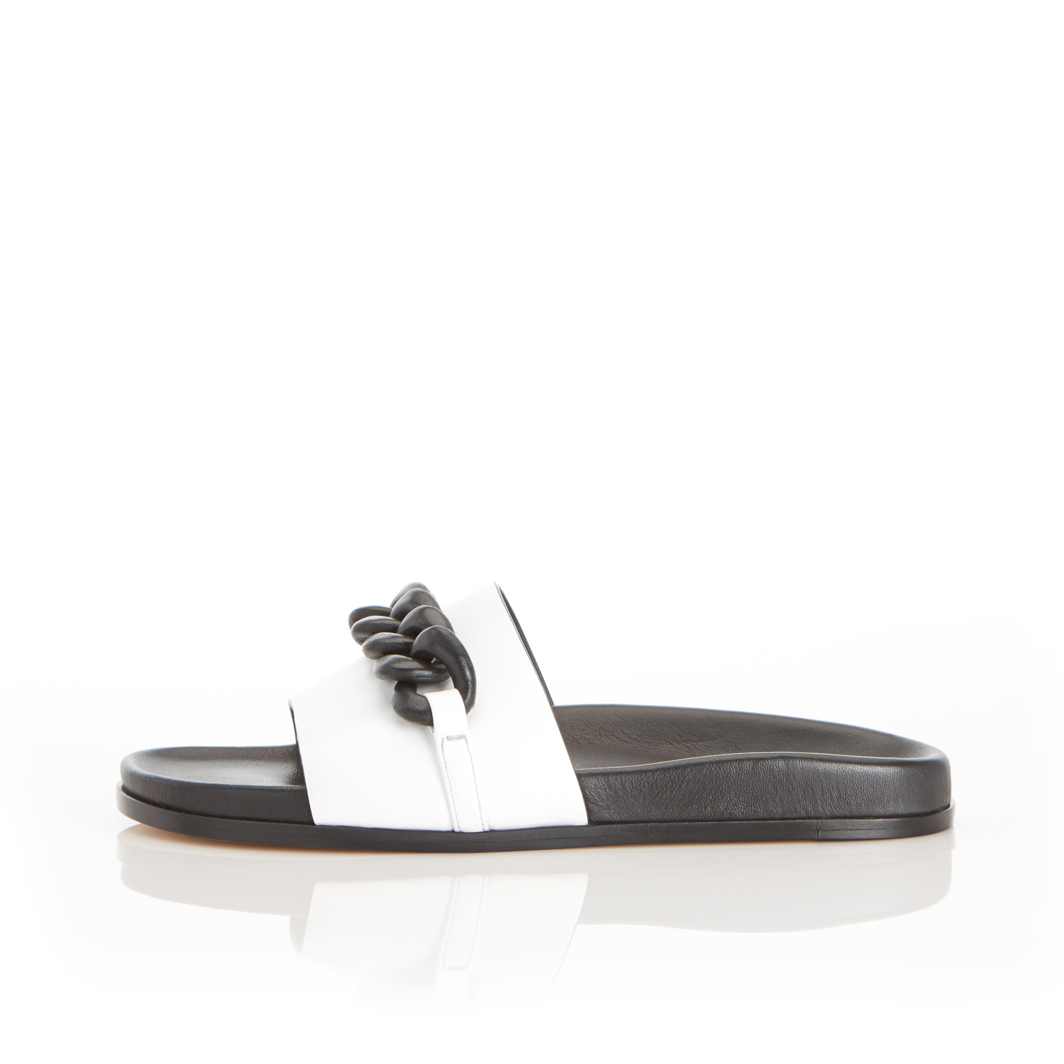 Christine | Leather Chain Sandal with Contoured Footbed 0
