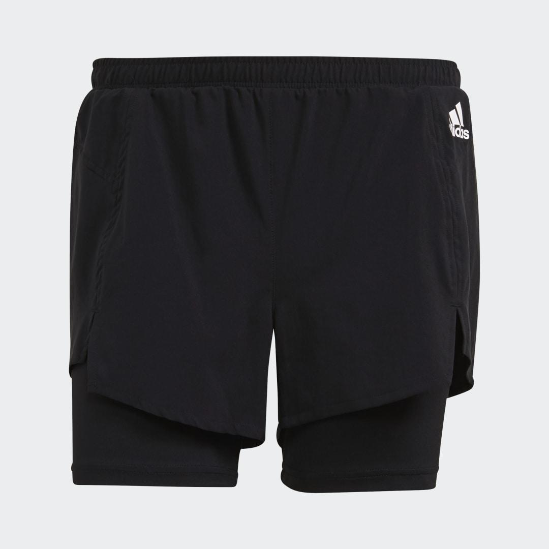 Primeblue Designed To Move 2-in-1 Sport Shorts Black XS - Womens Training Shorts 5