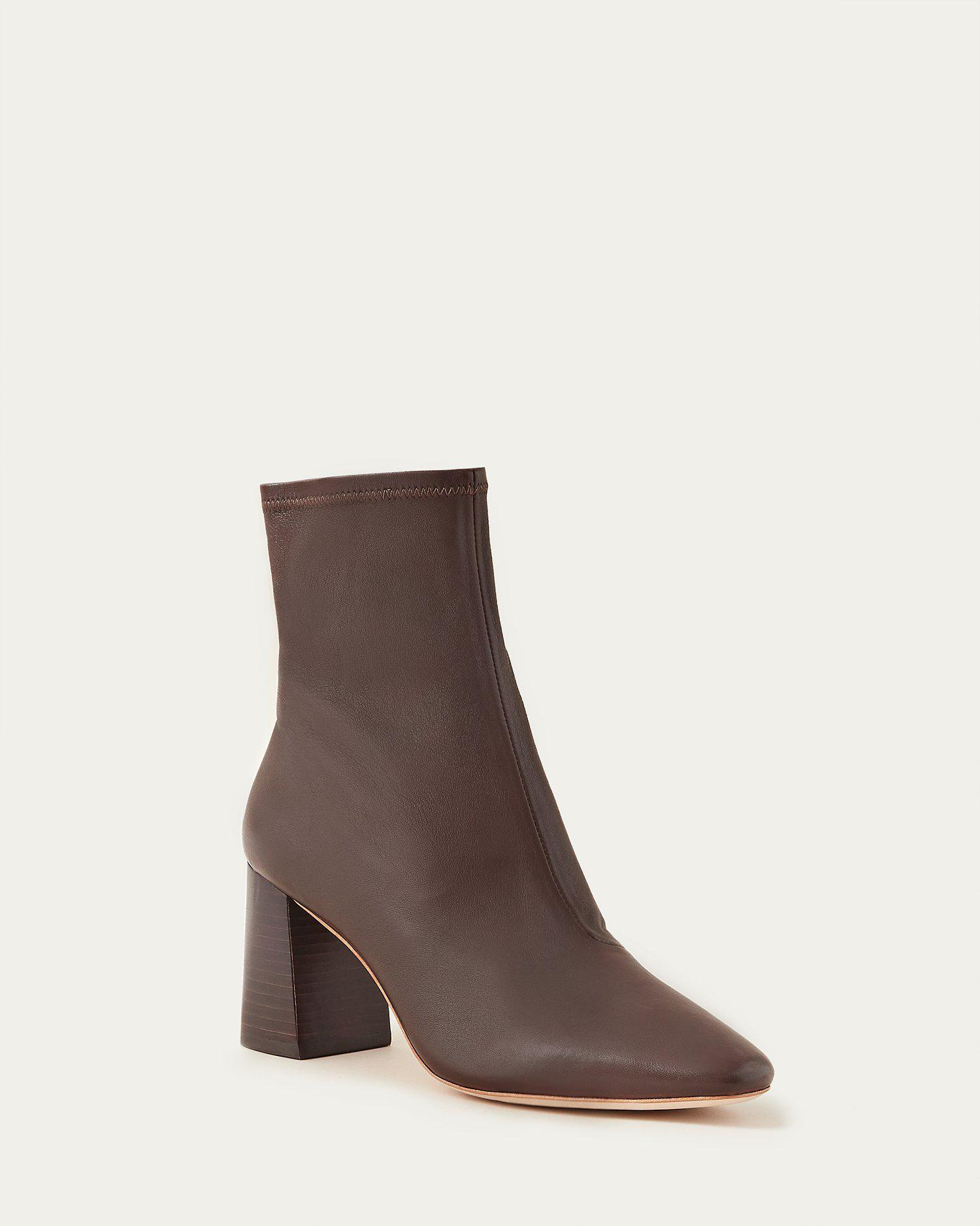 Elise Chocolate Stretch Bootie