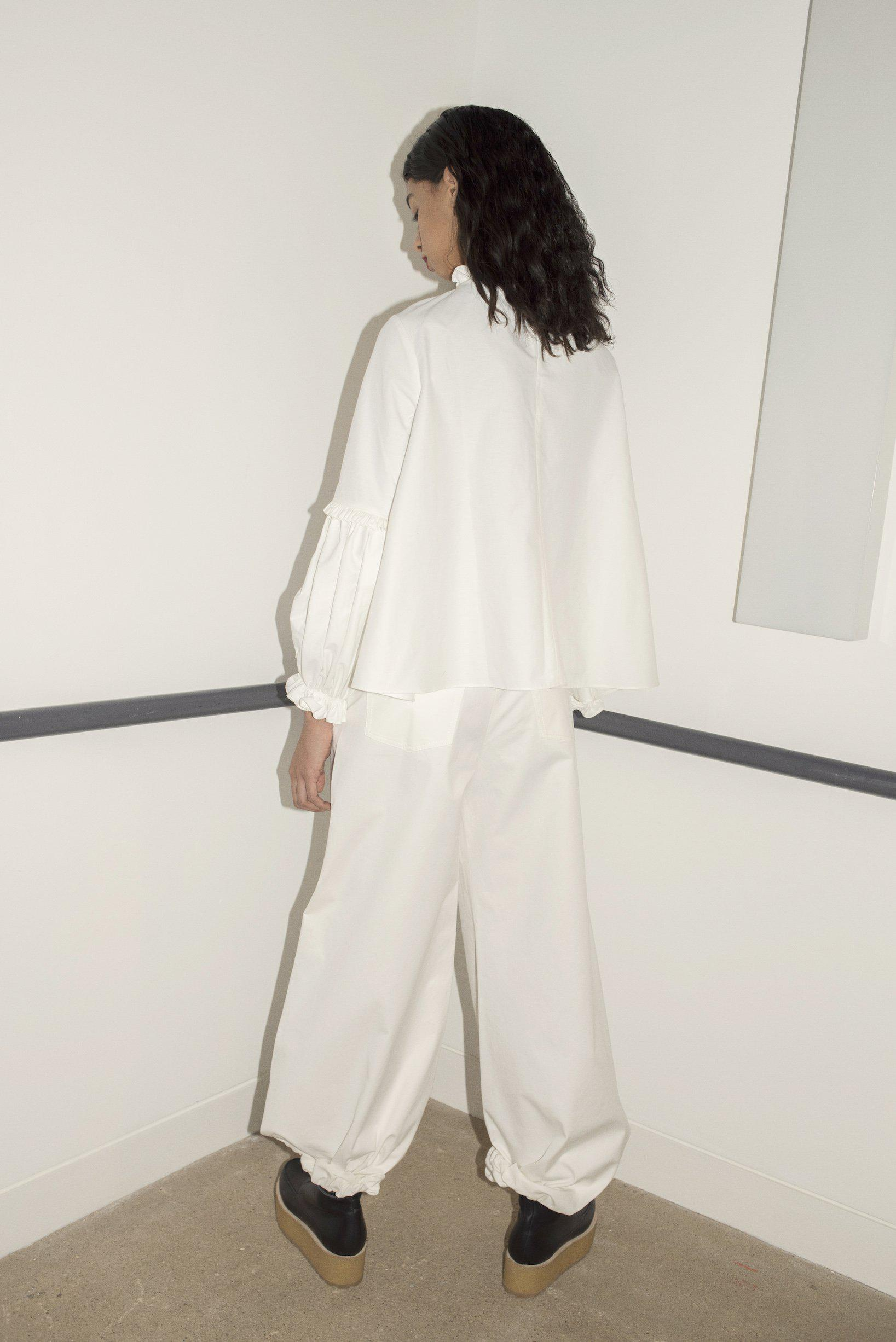 Drawcord Trousers (Ivory) 1