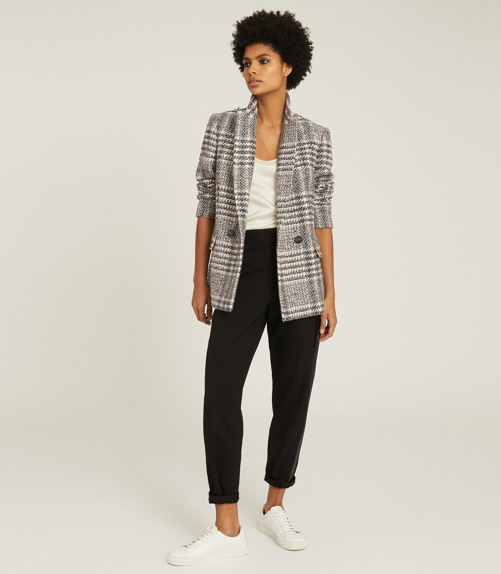 HAISLEY - CHECKED DOUBLE BREASTED BLAZER