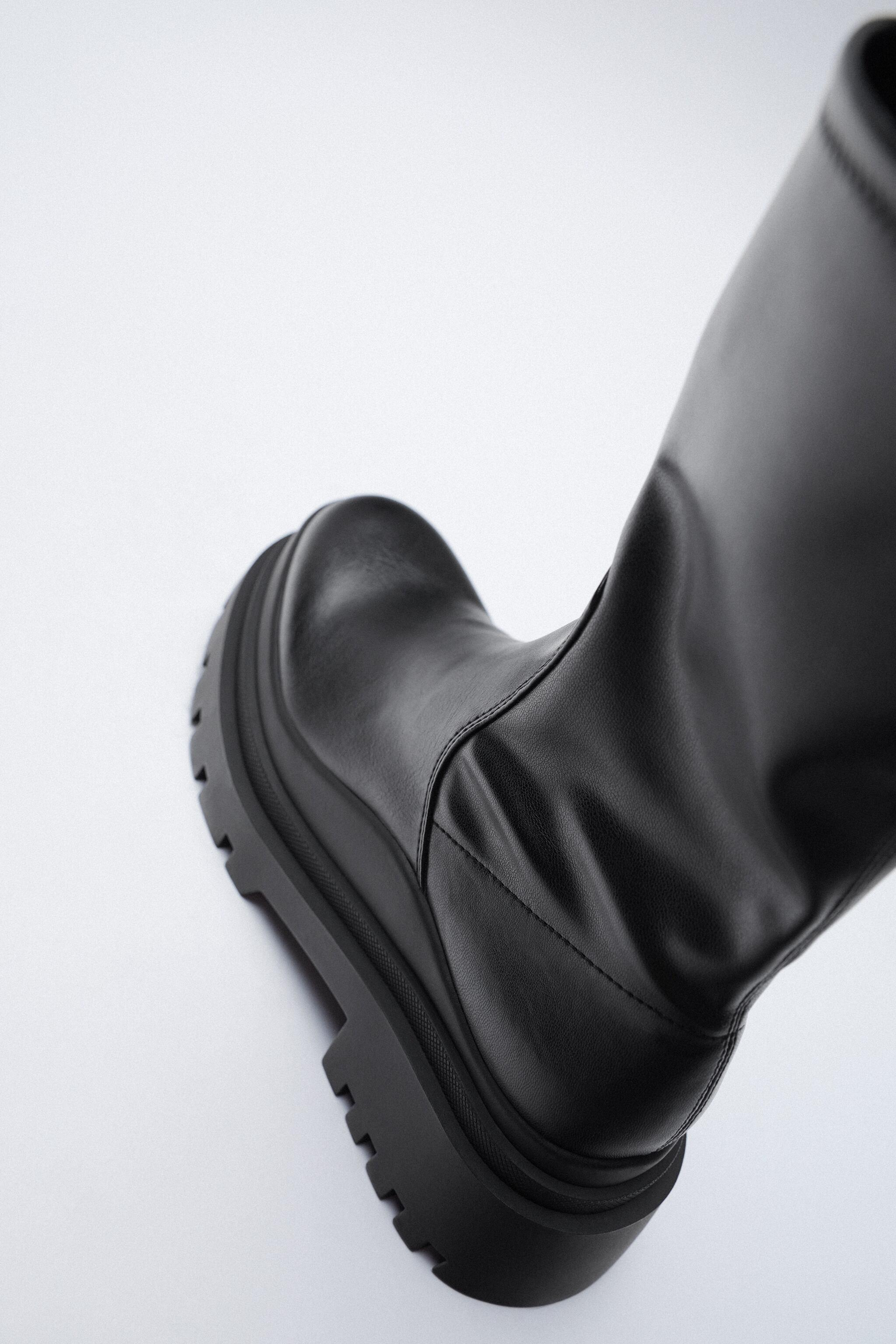 LOW HEELED LUG SOLE ANKLE BOOTS 3