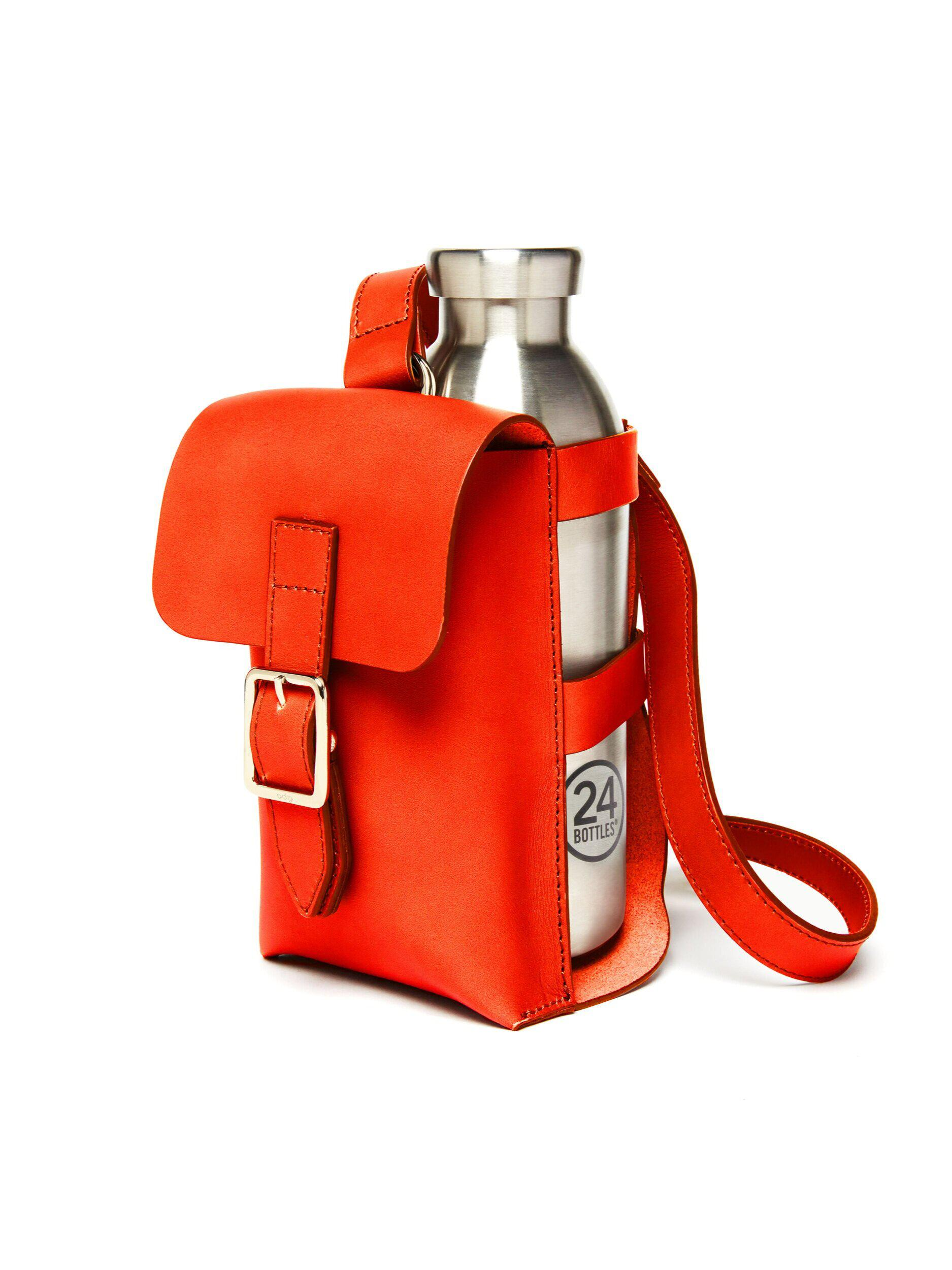 Bottle Bag with Bottle - Fiamma Leather