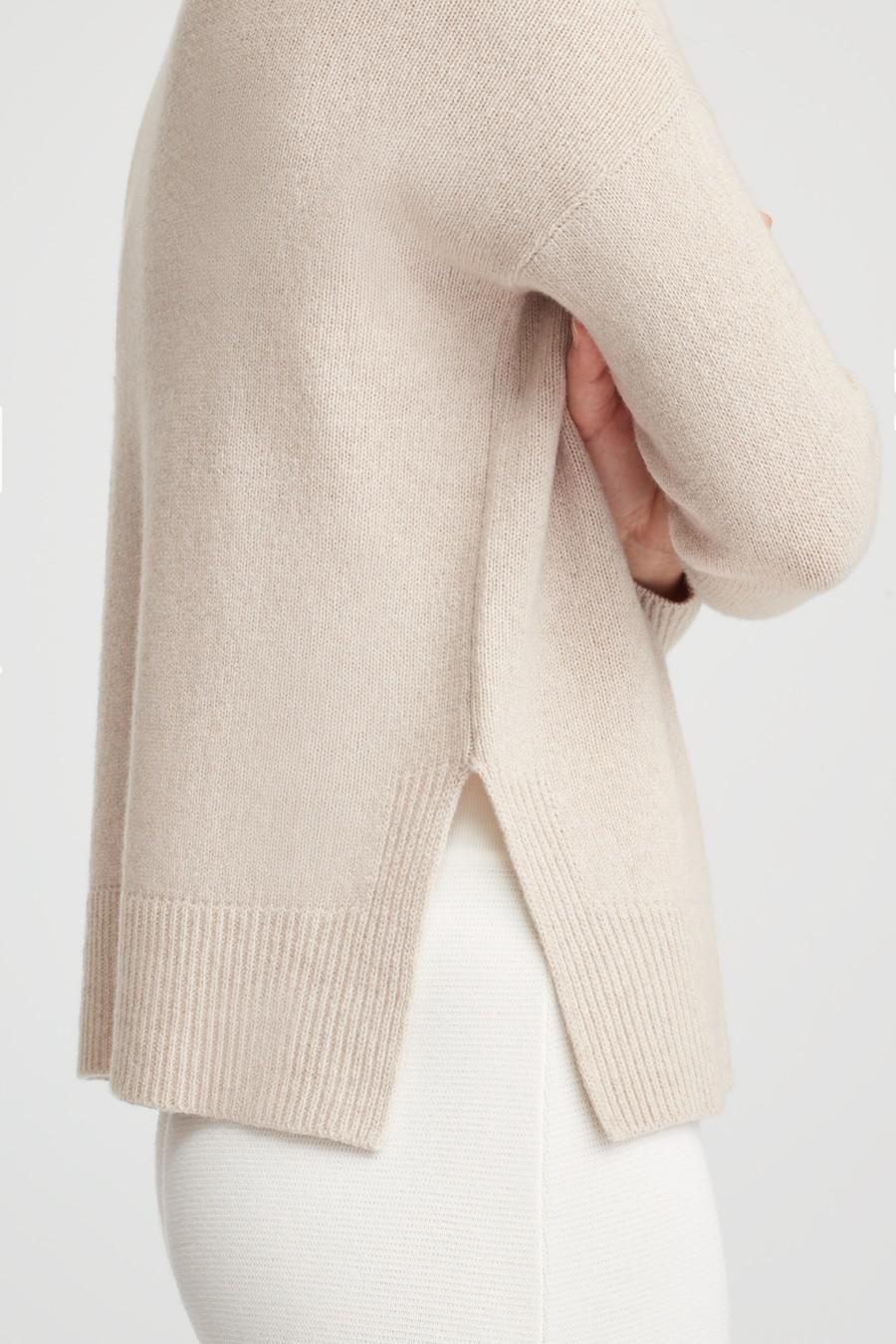 Women's Recycled Crewneck Sweater in Beige | Size: 3