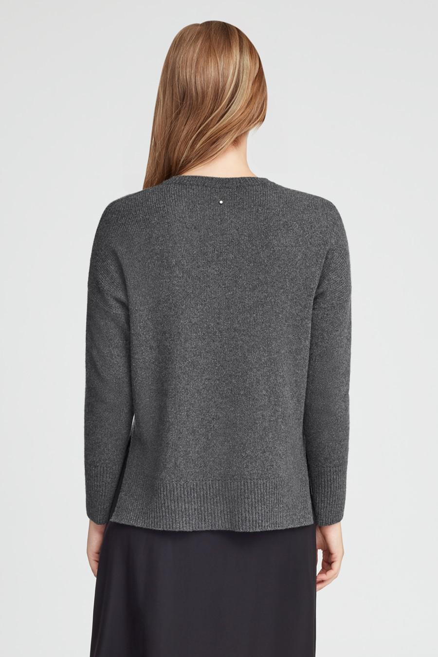 Women's Recycled Crewneck Sweater in Charcoal | Size: 2