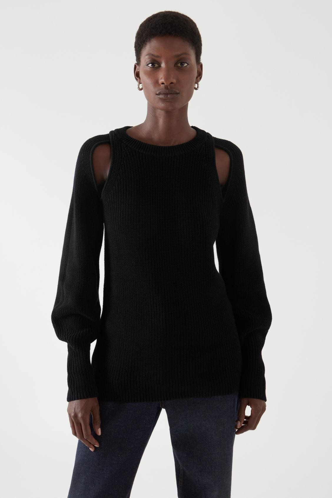 KNITTED CUT-OUT JUMPER