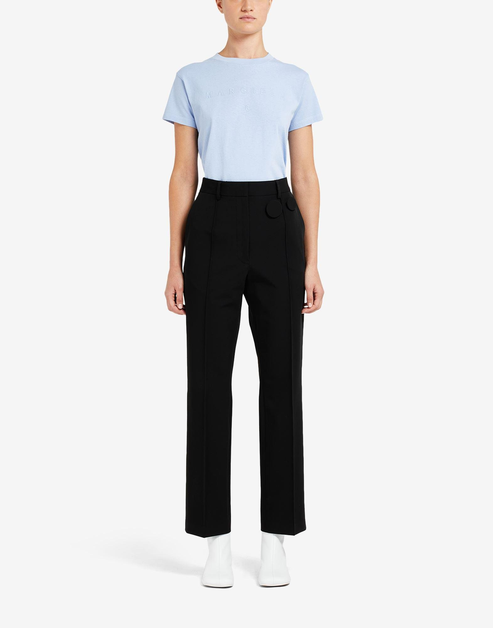 Badge pleated trousers