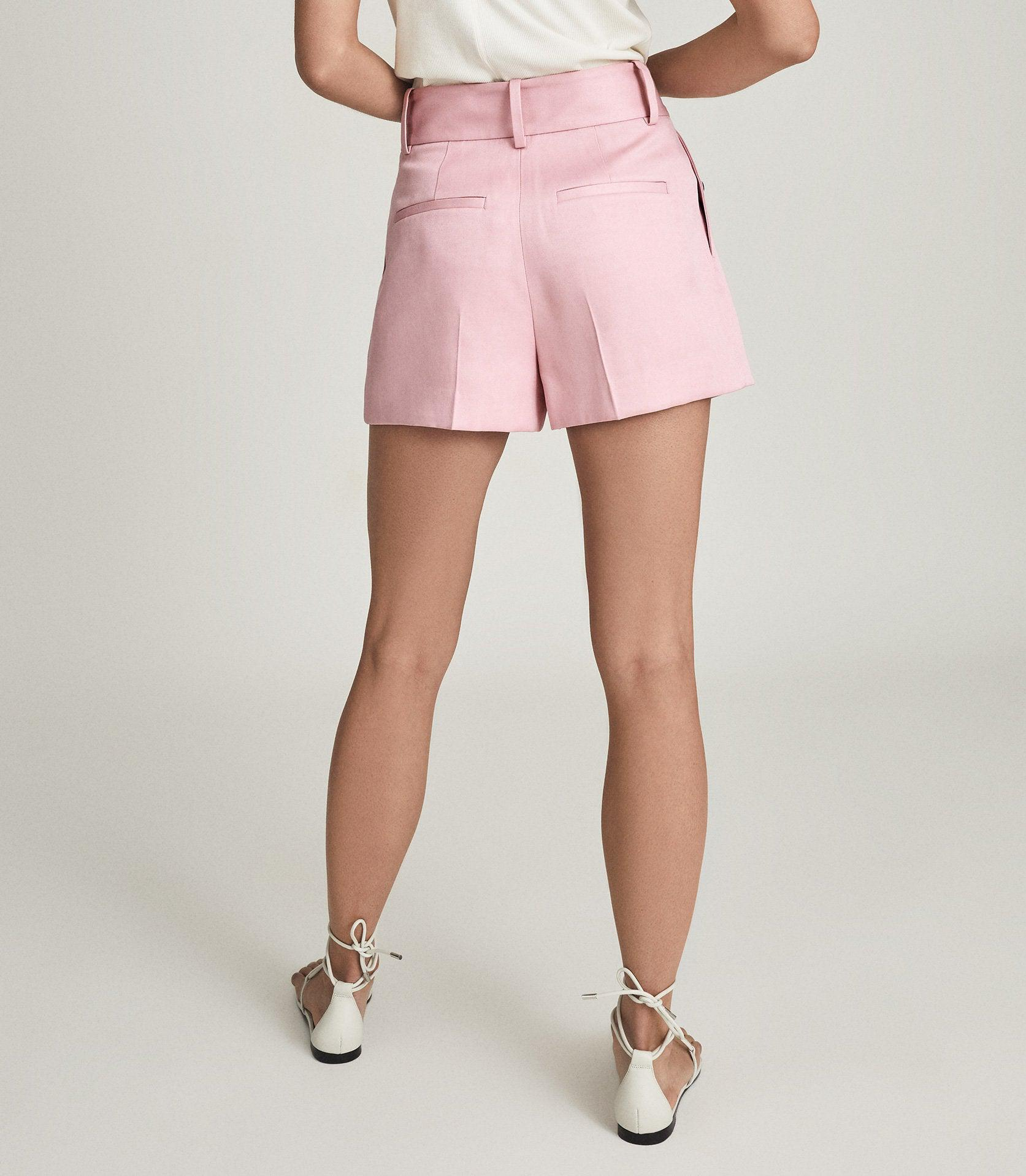 EMBER - TAILORED PLEAT FRONT SHORTS 3