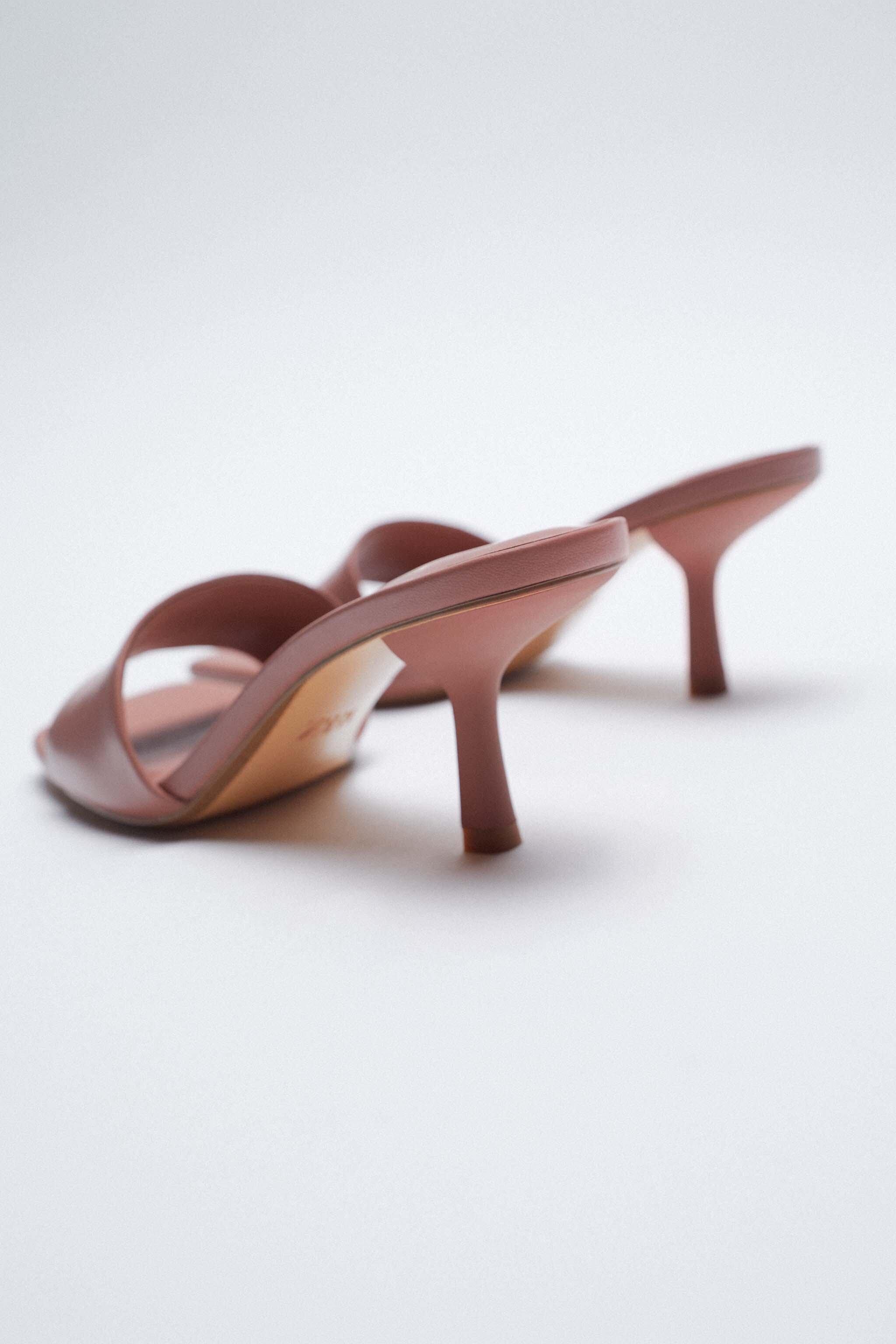 PADDED HEELED LEATHER SANDALS 2