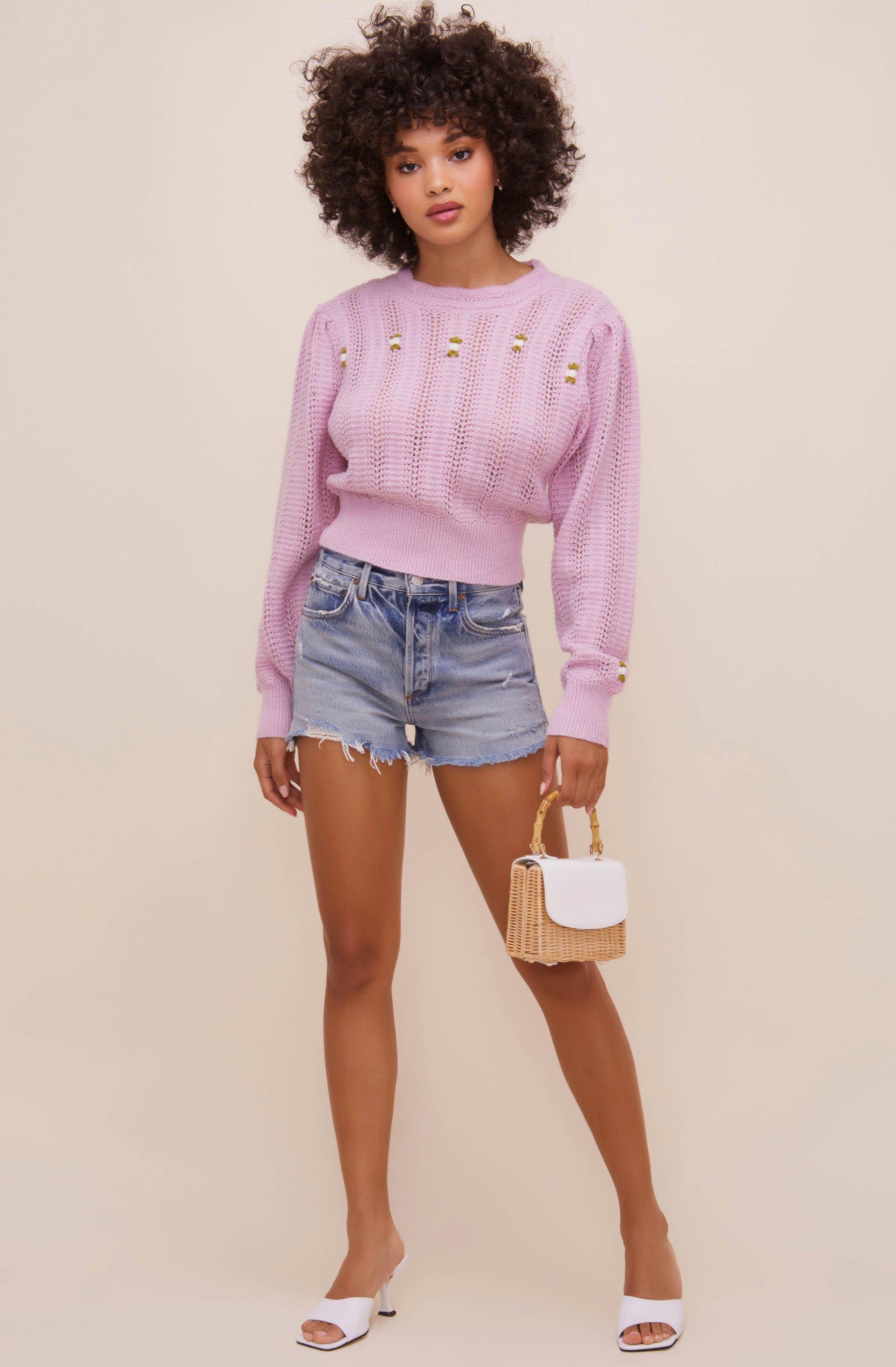 Taya Floral Embroidered Sweater 2