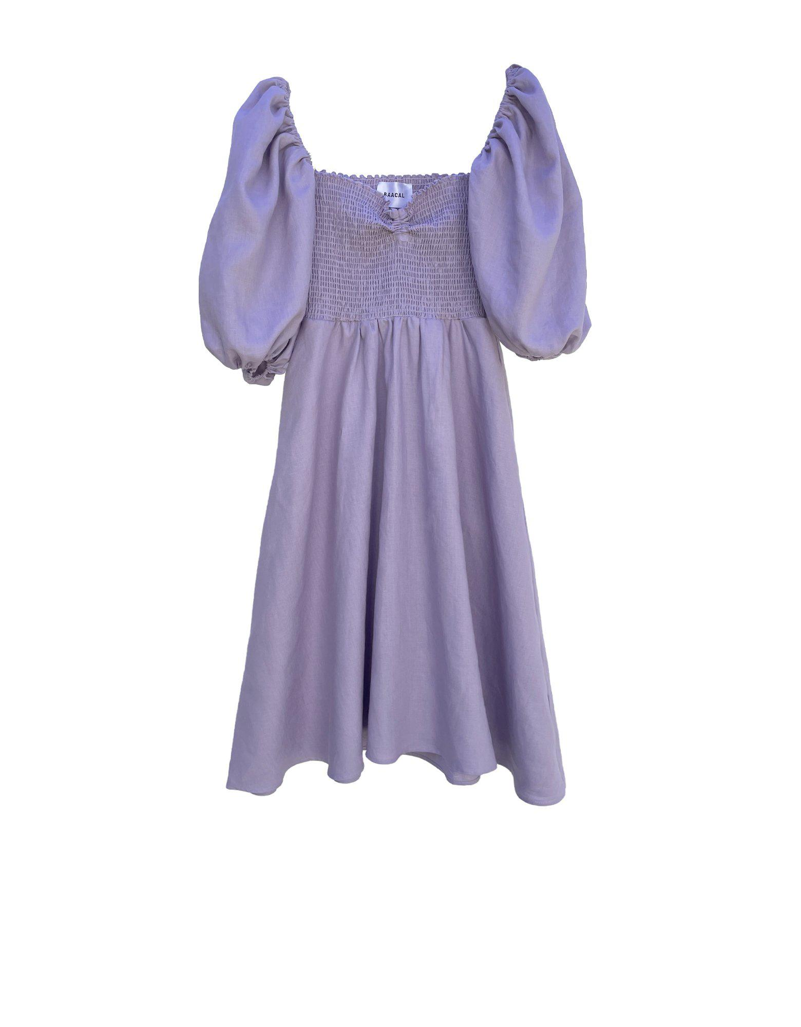 The Colette Dress in Lilac Linen 8