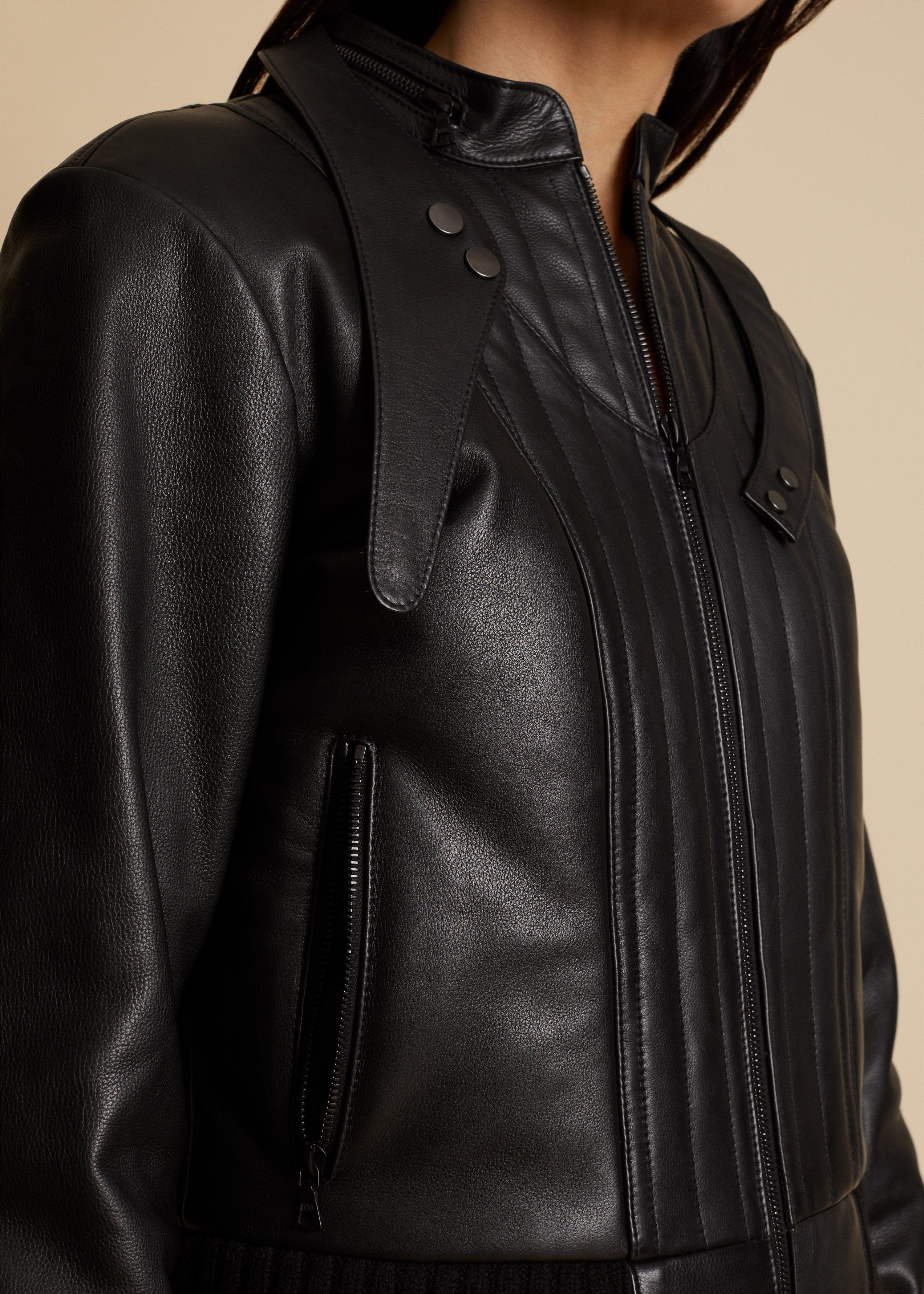The Nicolette Jacket in Black Leather 7