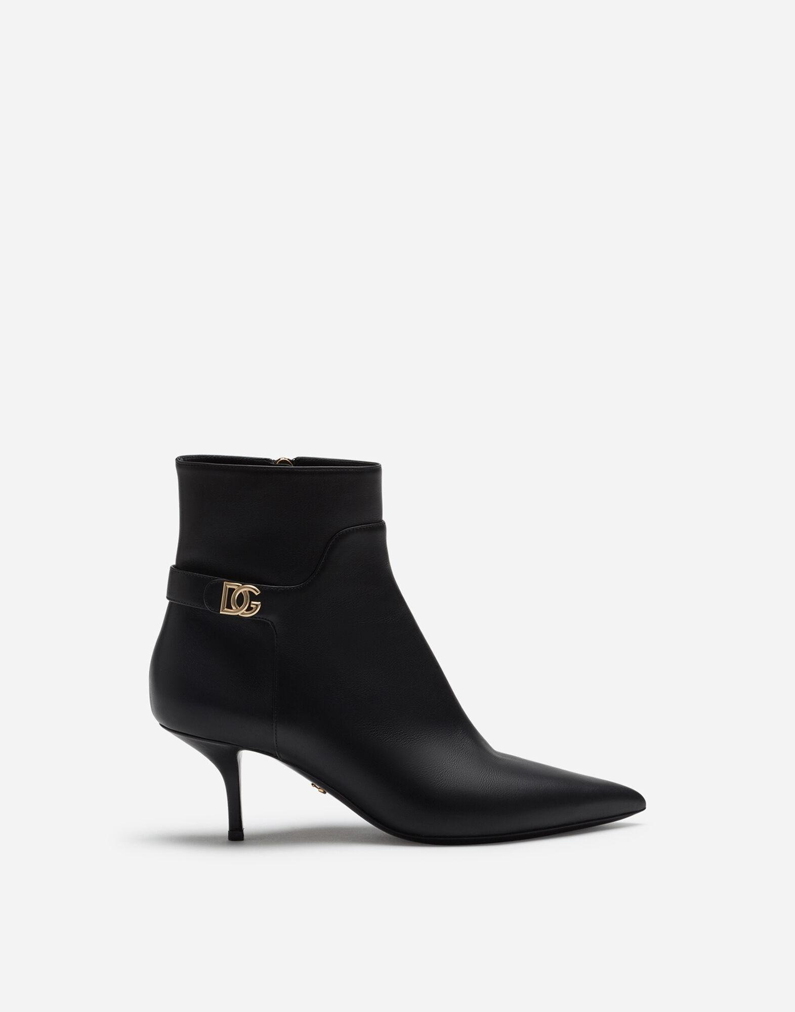 Calfskin ankle boots with DG logo