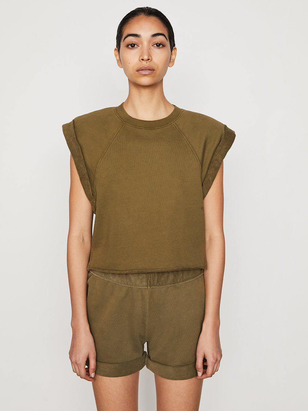 Rolled Up Sweatshirt -- Washed Moss