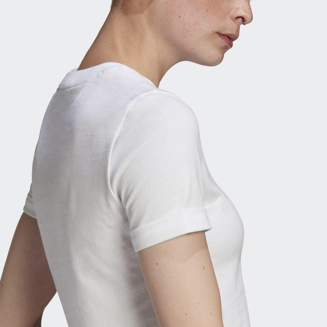 Adicolor Classics Roll-Up Sleeve Crop Top White 5