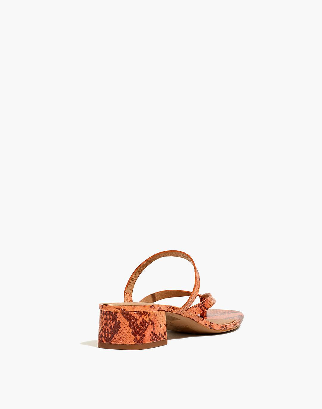 The Amber Sandal in Snake Embossed Leather 2
