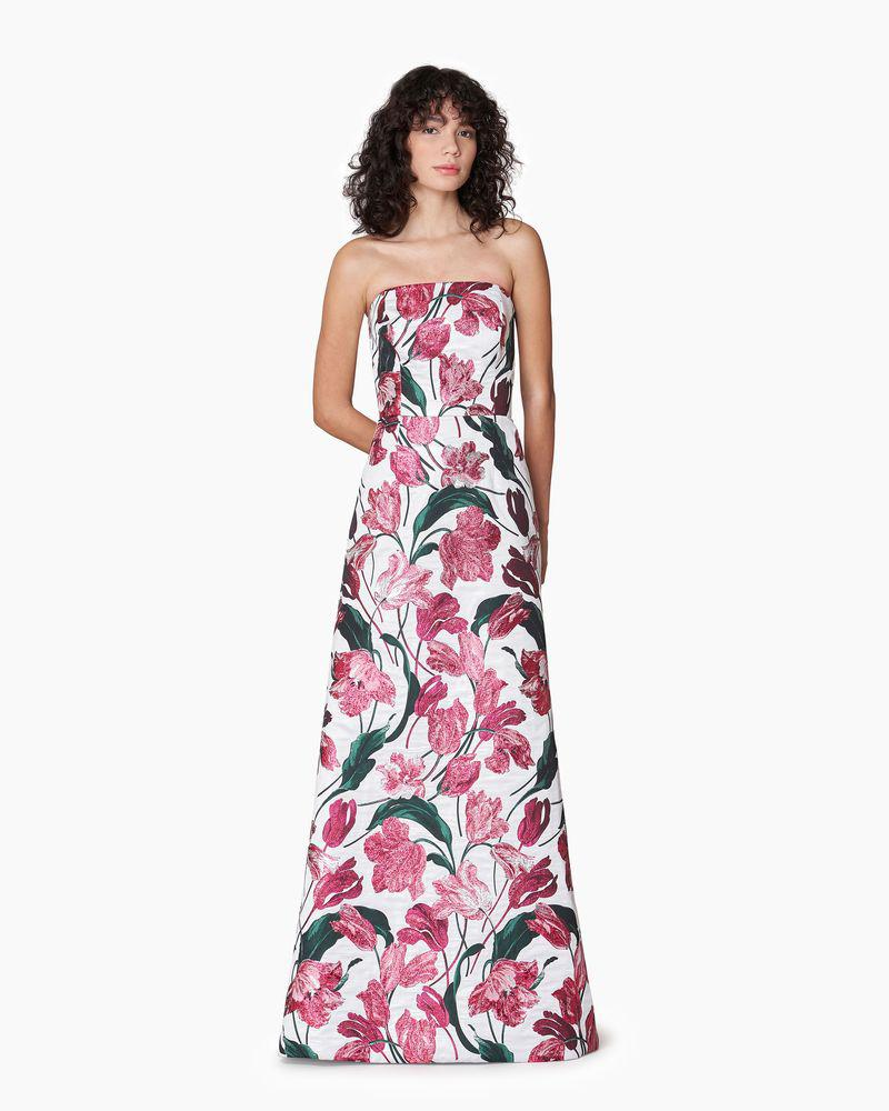 Strapless Tulip A-Line Gown