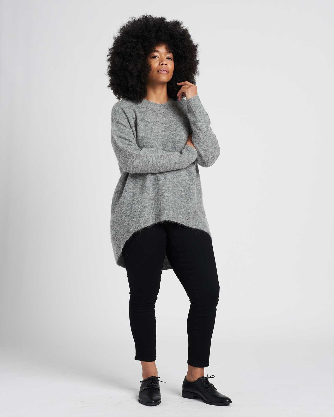 Melissa High-Low Sweater 1