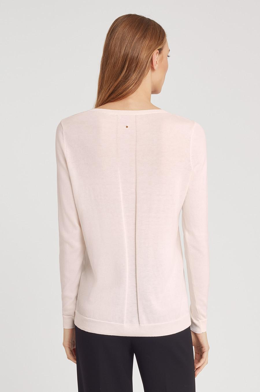 Women's Classic Cotton Cashmere V-Neck Sweater in Blush Pink   Size: 2