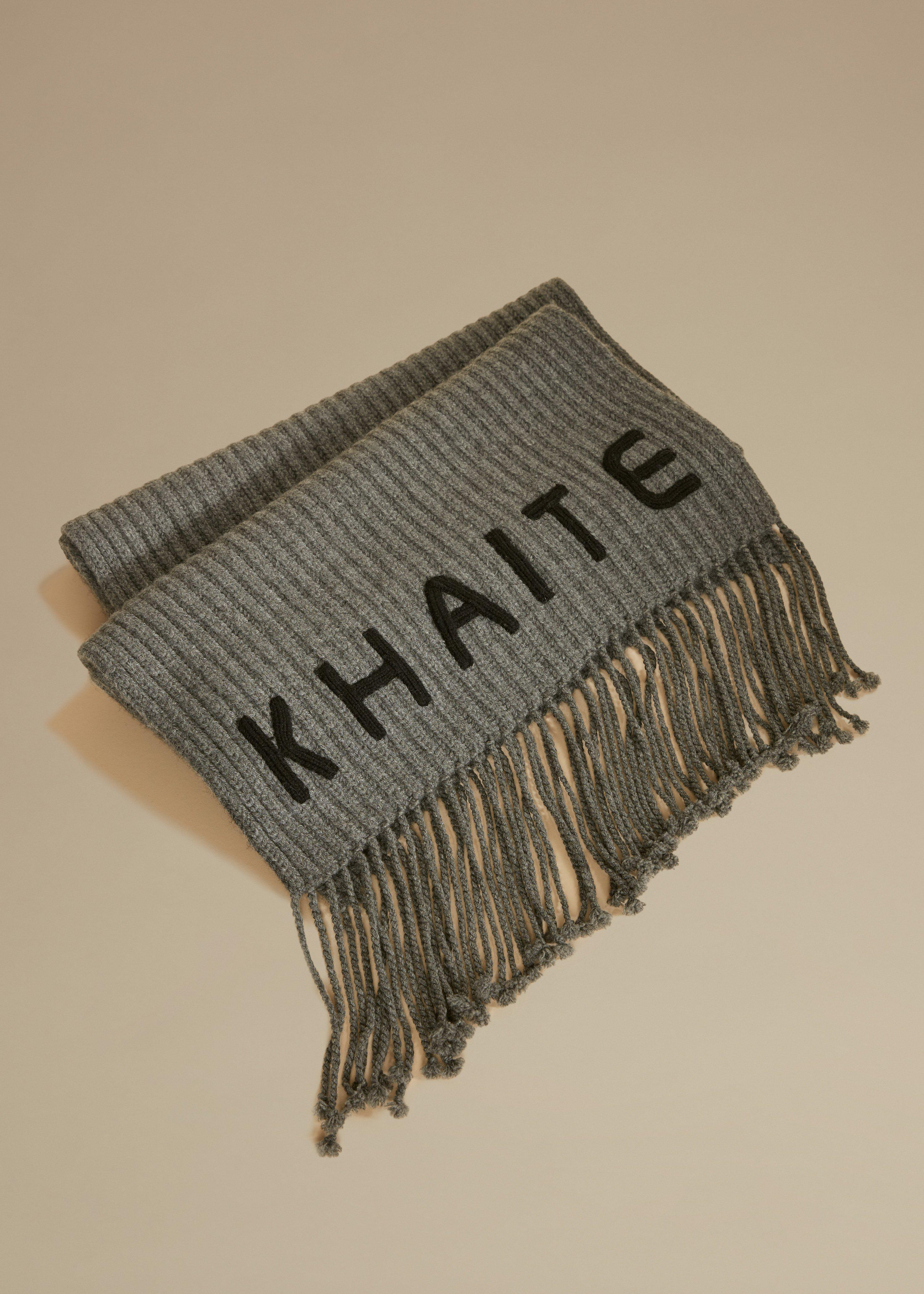 The Logo Scarf in Charcoal and Black