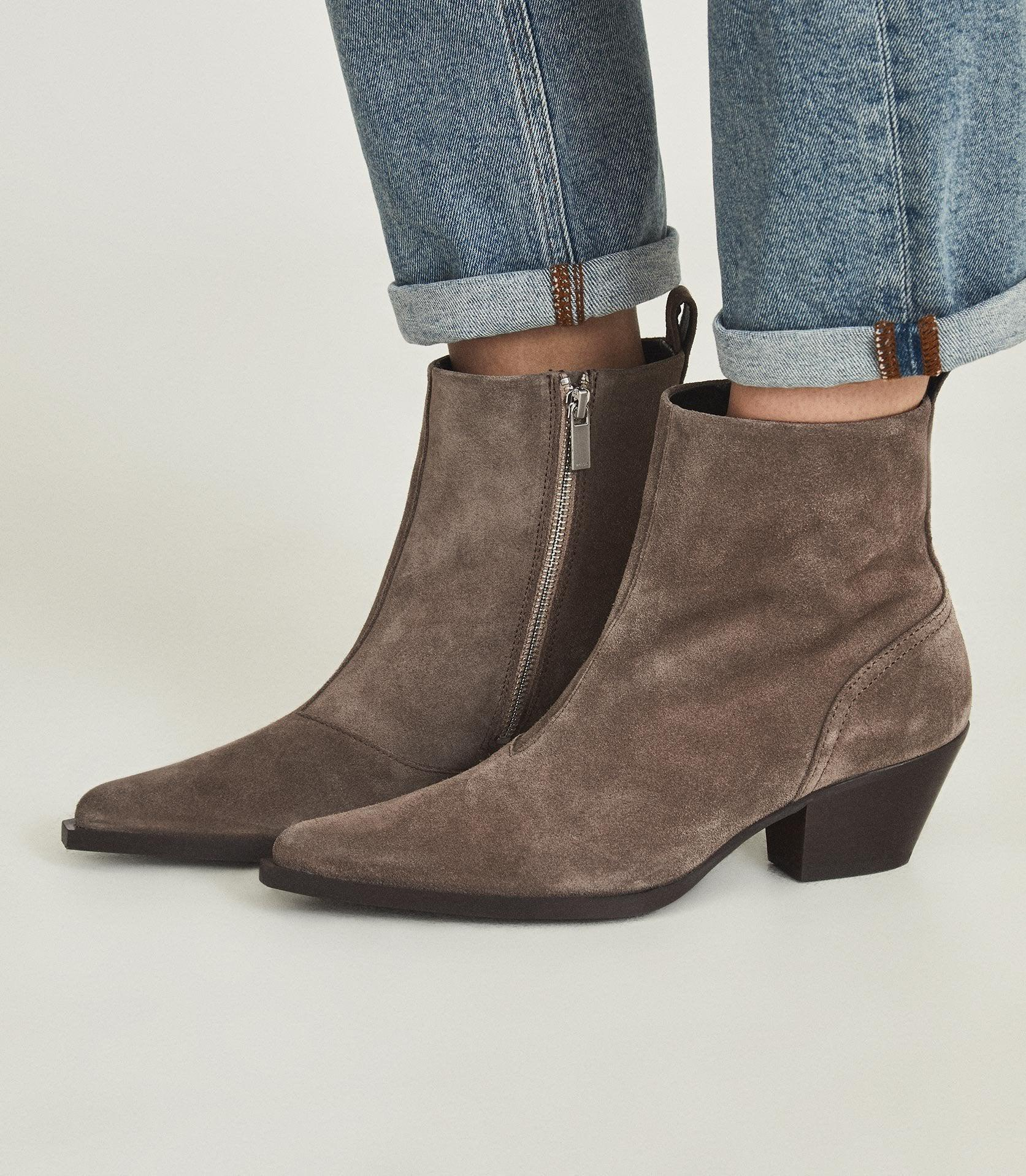 HAYWORTH SUEDE - SUEDE WESTERN ANKLE BOOTS 4