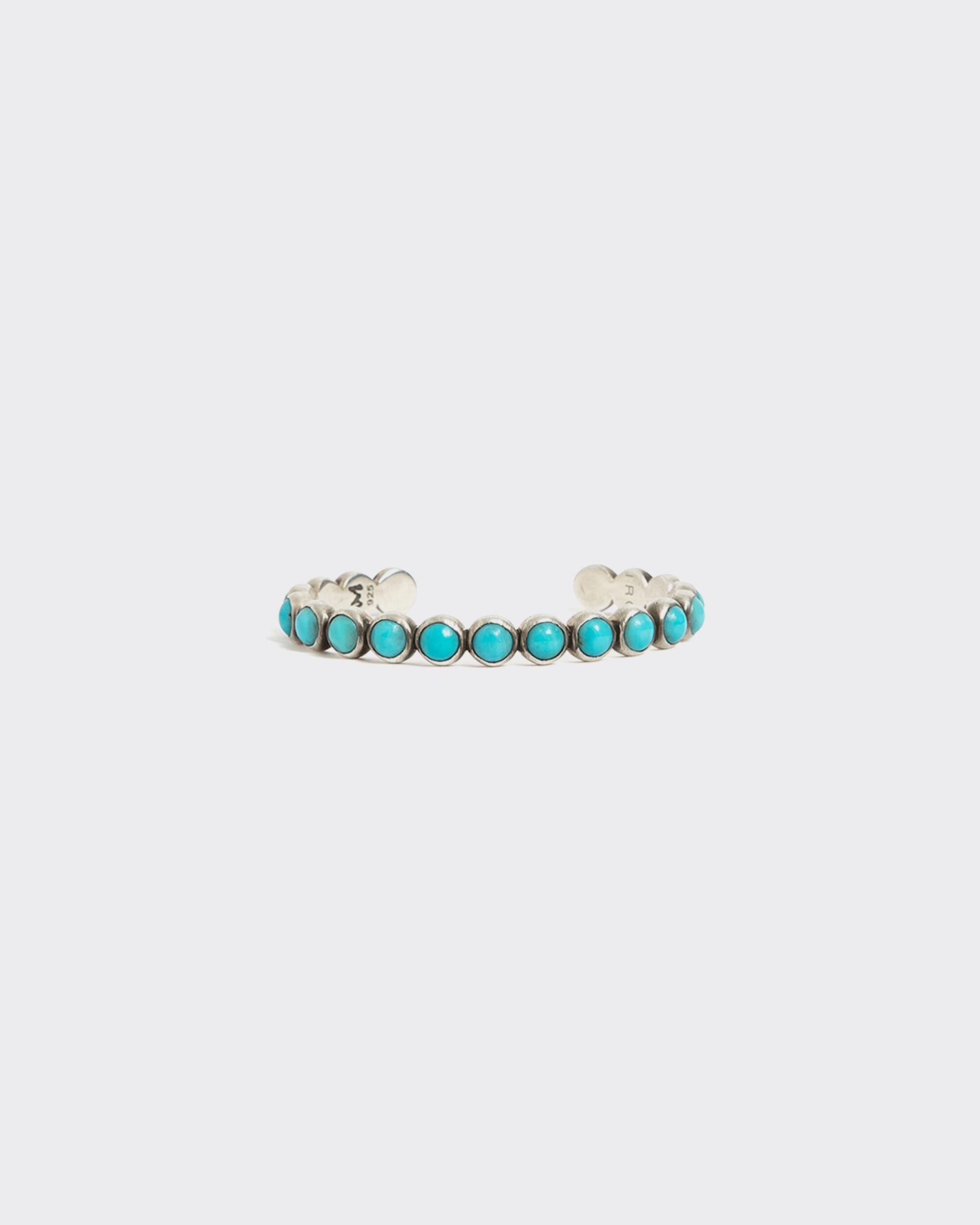 CUIVRE SILVER AND TURQUOISE BEAD BRACELET