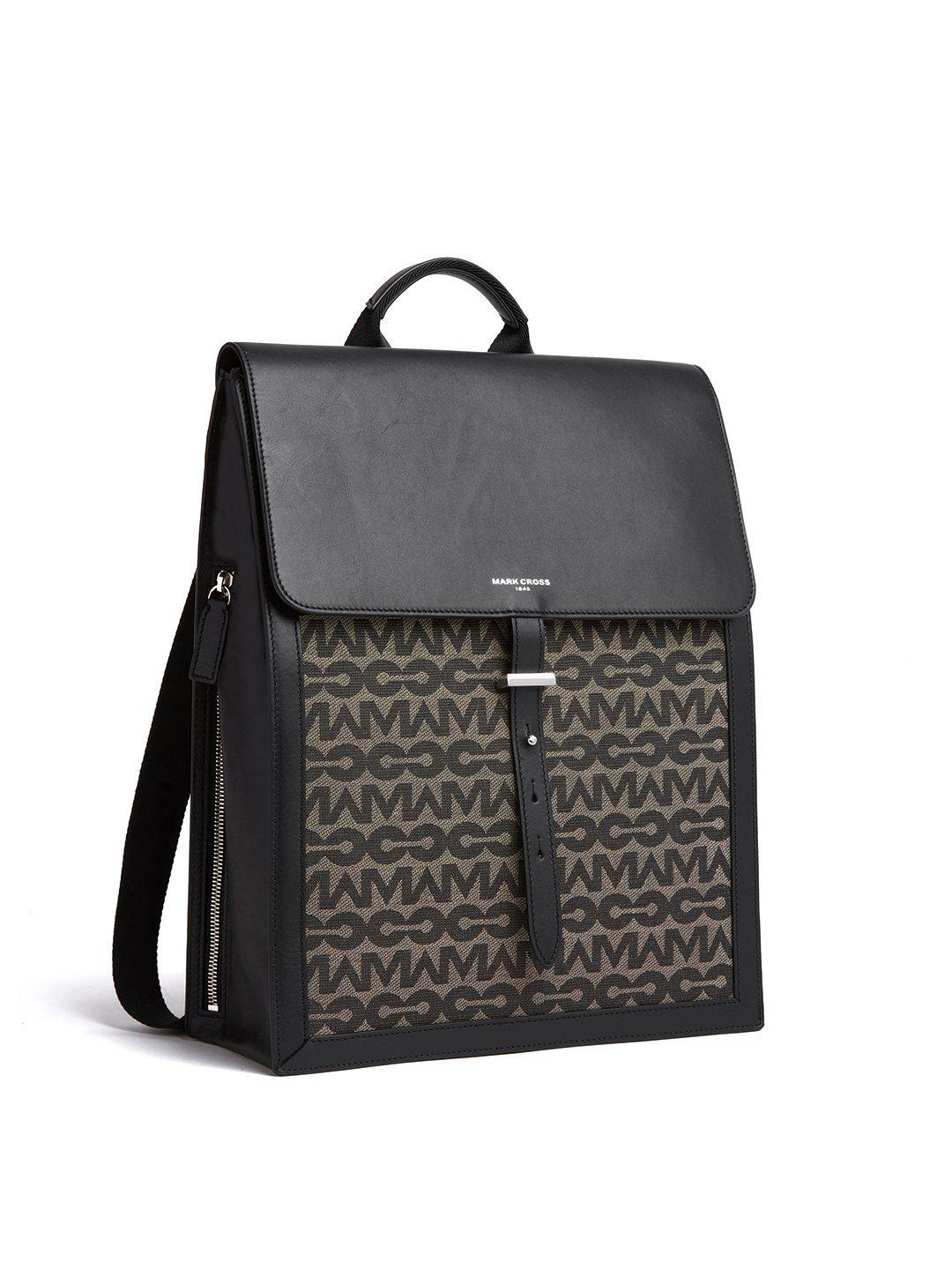 Andy MC Jacquard & Leather Backpack 3