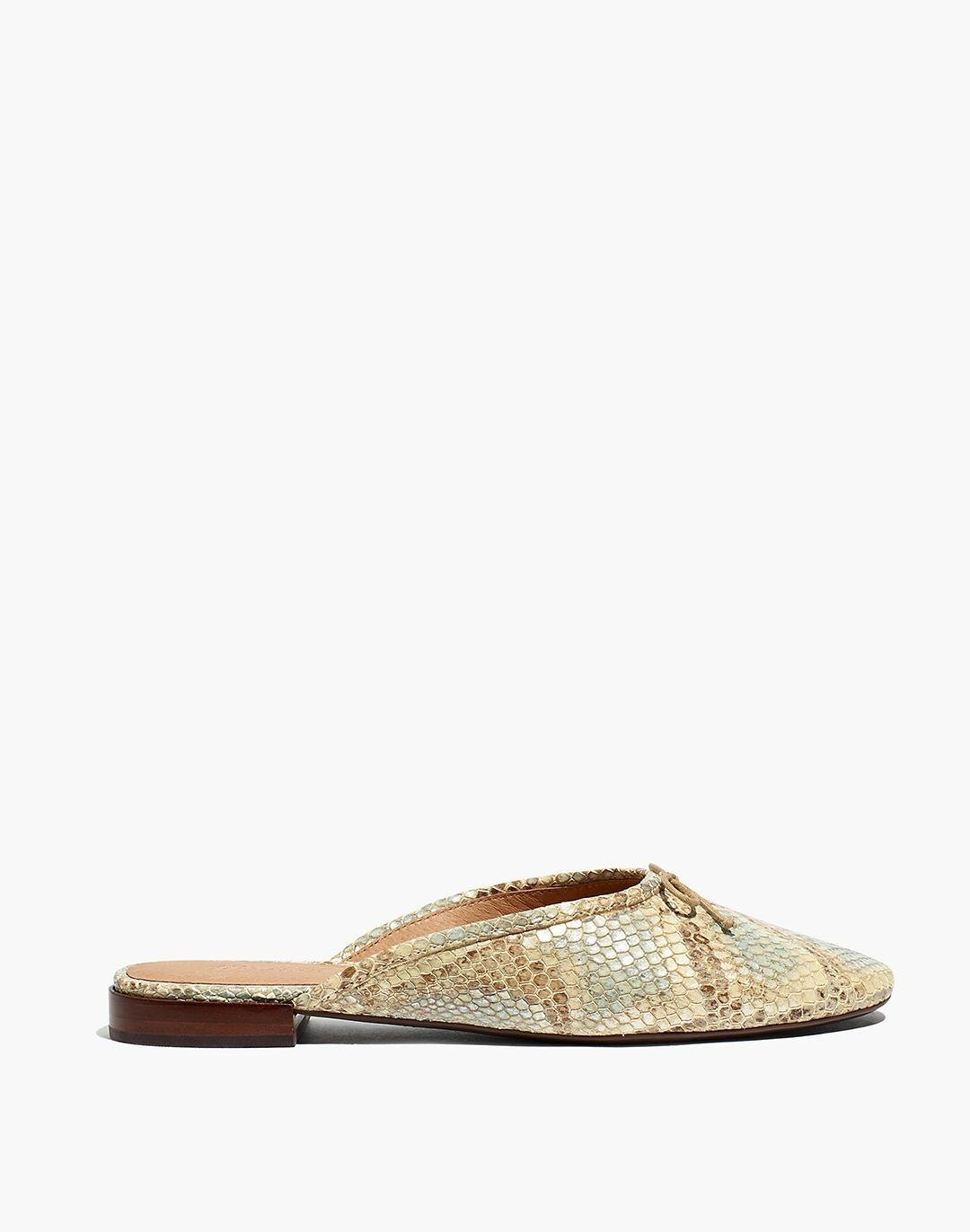 The Adelle Ballet Mule in Snake Embossed Leather 1